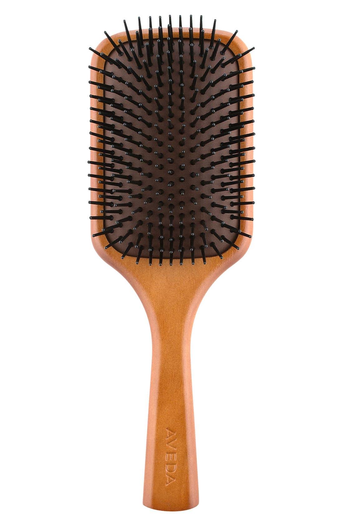 Wooden Paddle Brush,                             Main thumbnail 1, color,                             NO COLOR