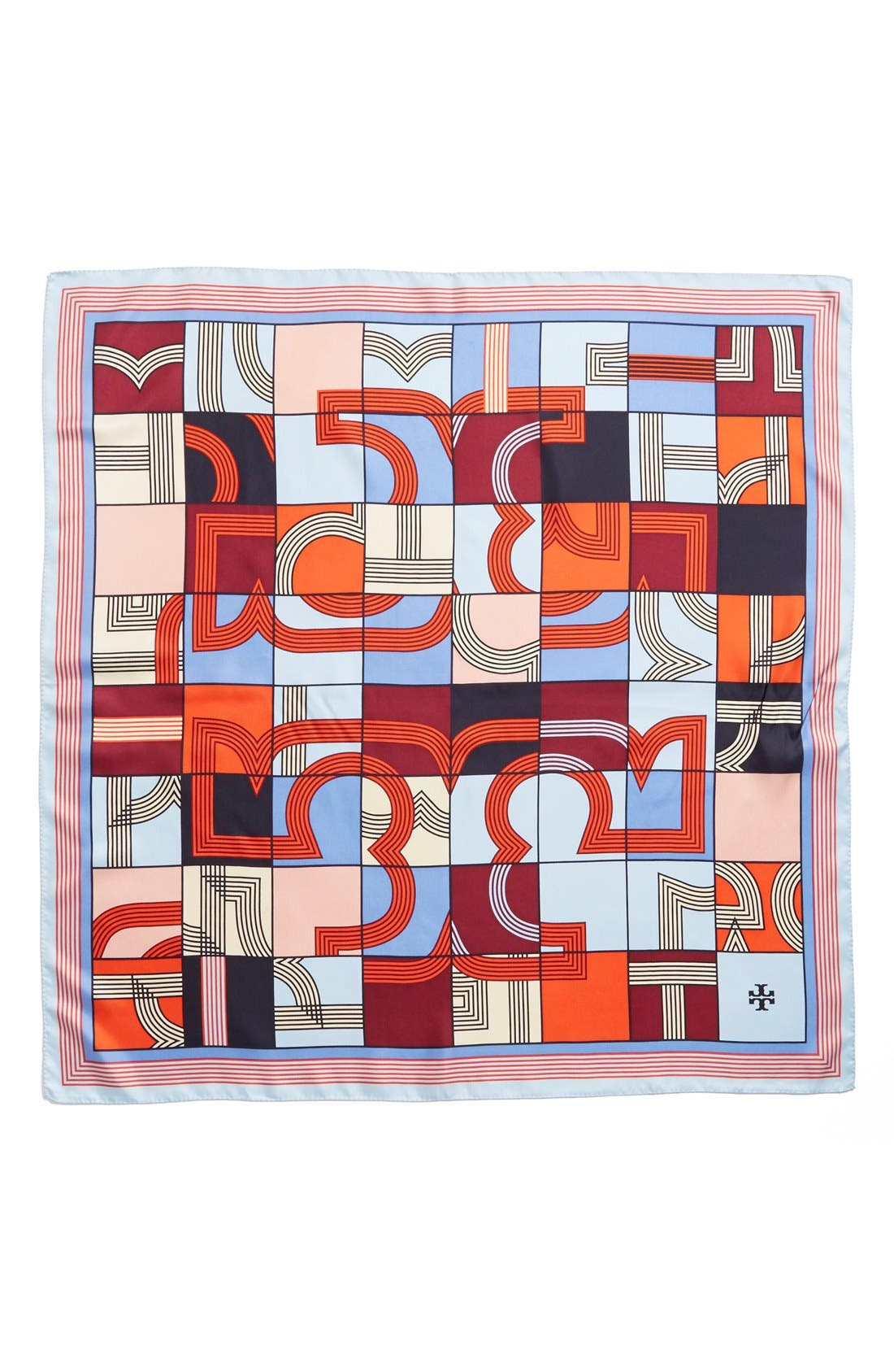 'Logo Puzzle' Silk Square Scarf,                             Alternate thumbnail 3, color,                             600