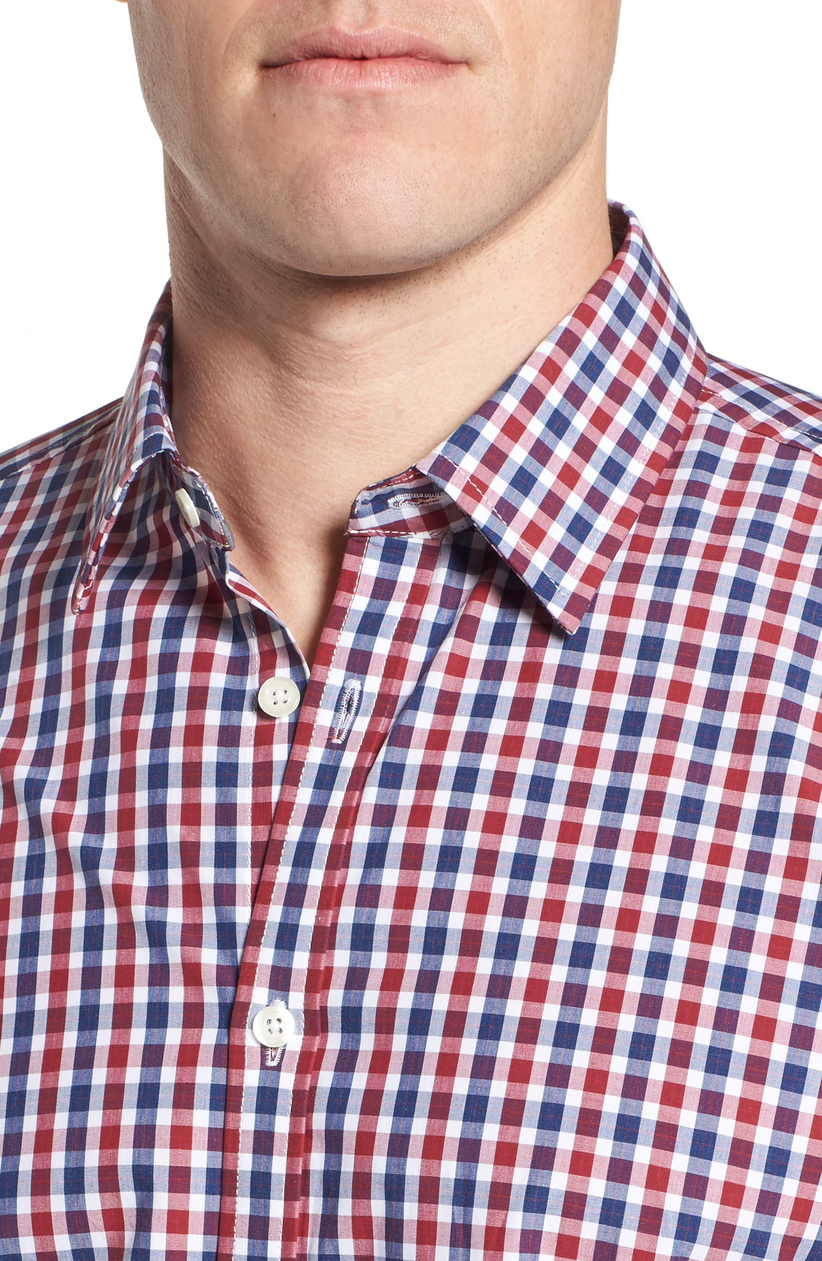 Slim Fit Check Sport Shirt,                             Alternate thumbnail 4, color,                             624