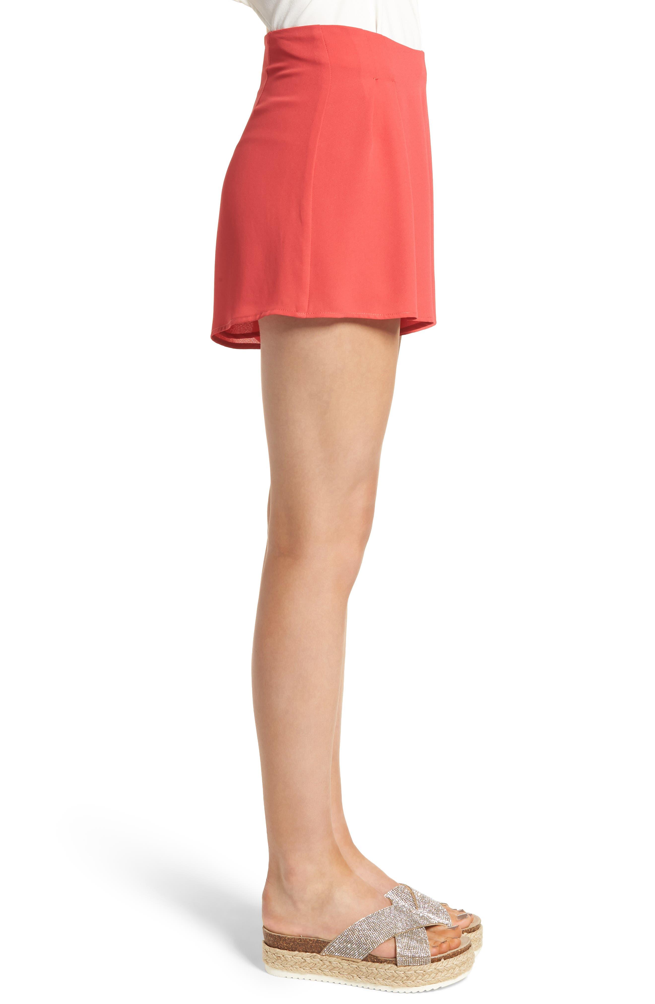 Pleat Front High Waist Shorts,                             Alternate thumbnail 9, color,