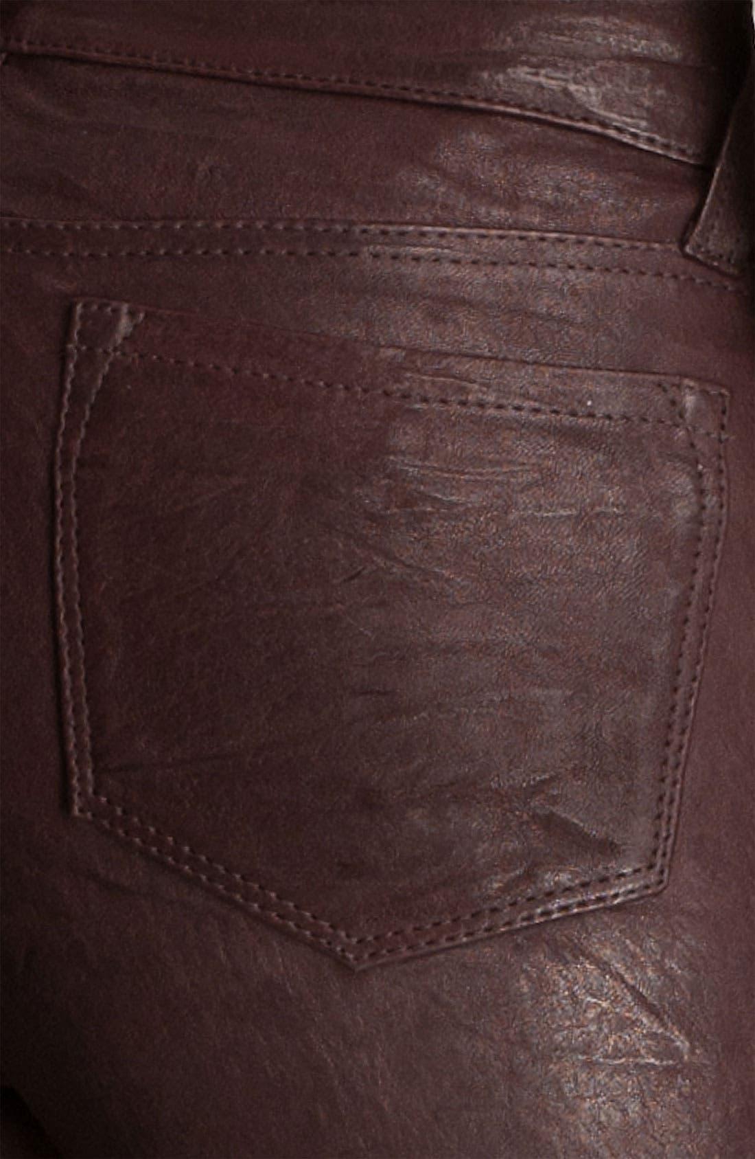 '8001' Lambskin Leather Pants,                             Alternate thumbnail 43, color,