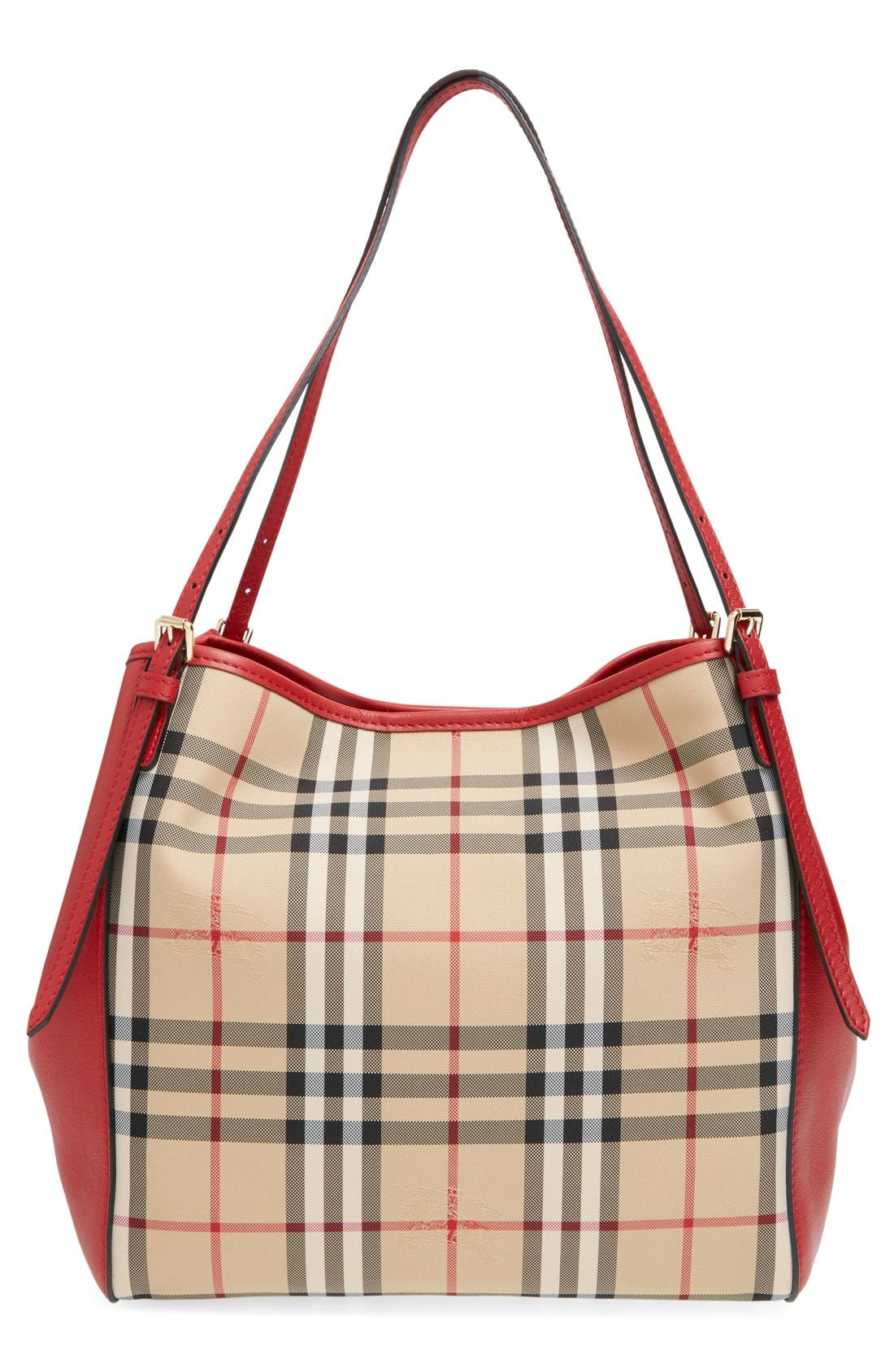BURBERRY,                             'Horseferry Check - Small Canterbury' Tote,                             Alternate thumbnail 4, color,                             600
