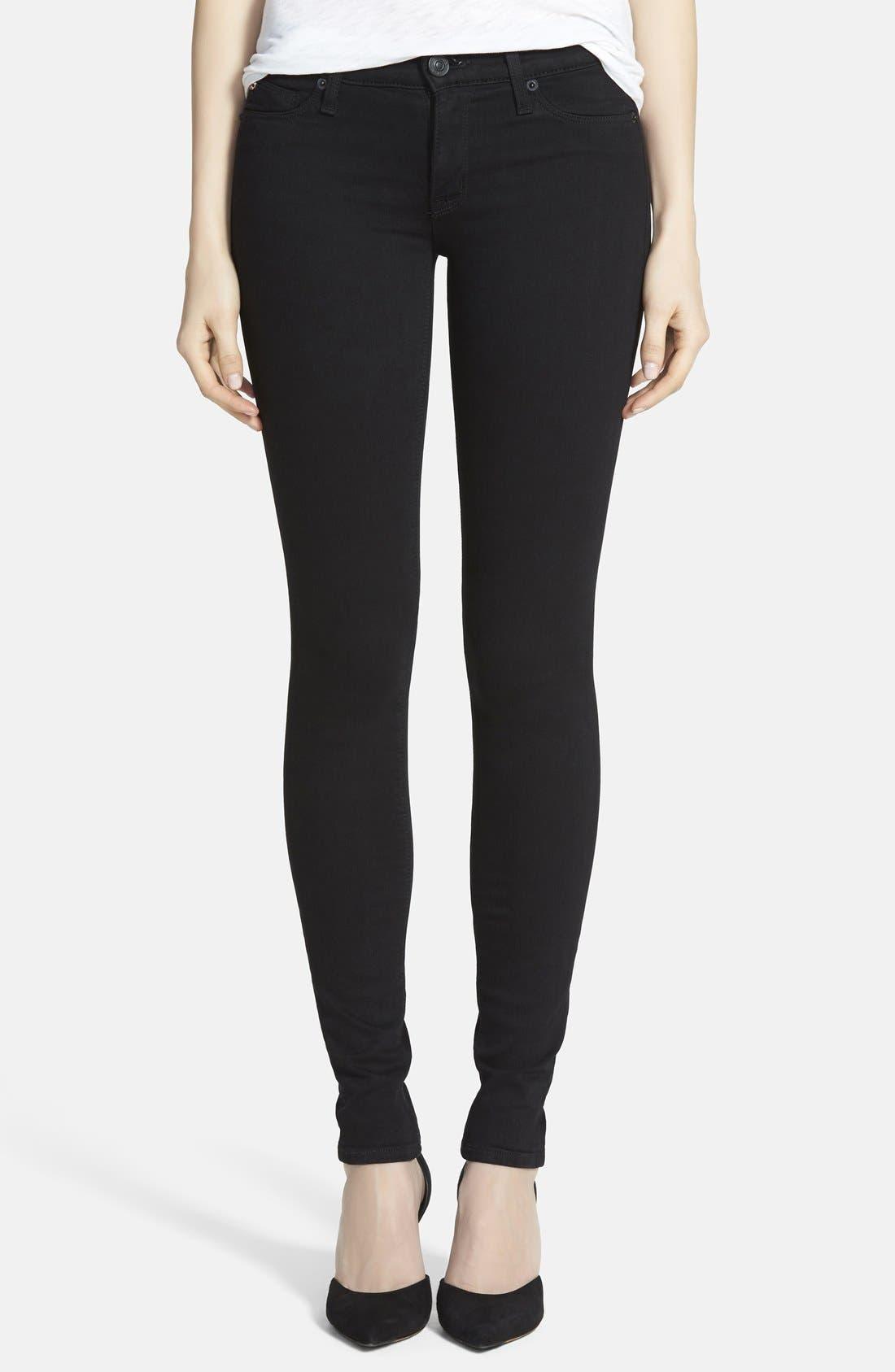 'Krista' Super Skinny Jeans,                             Main thumbnail 1, color,                             001