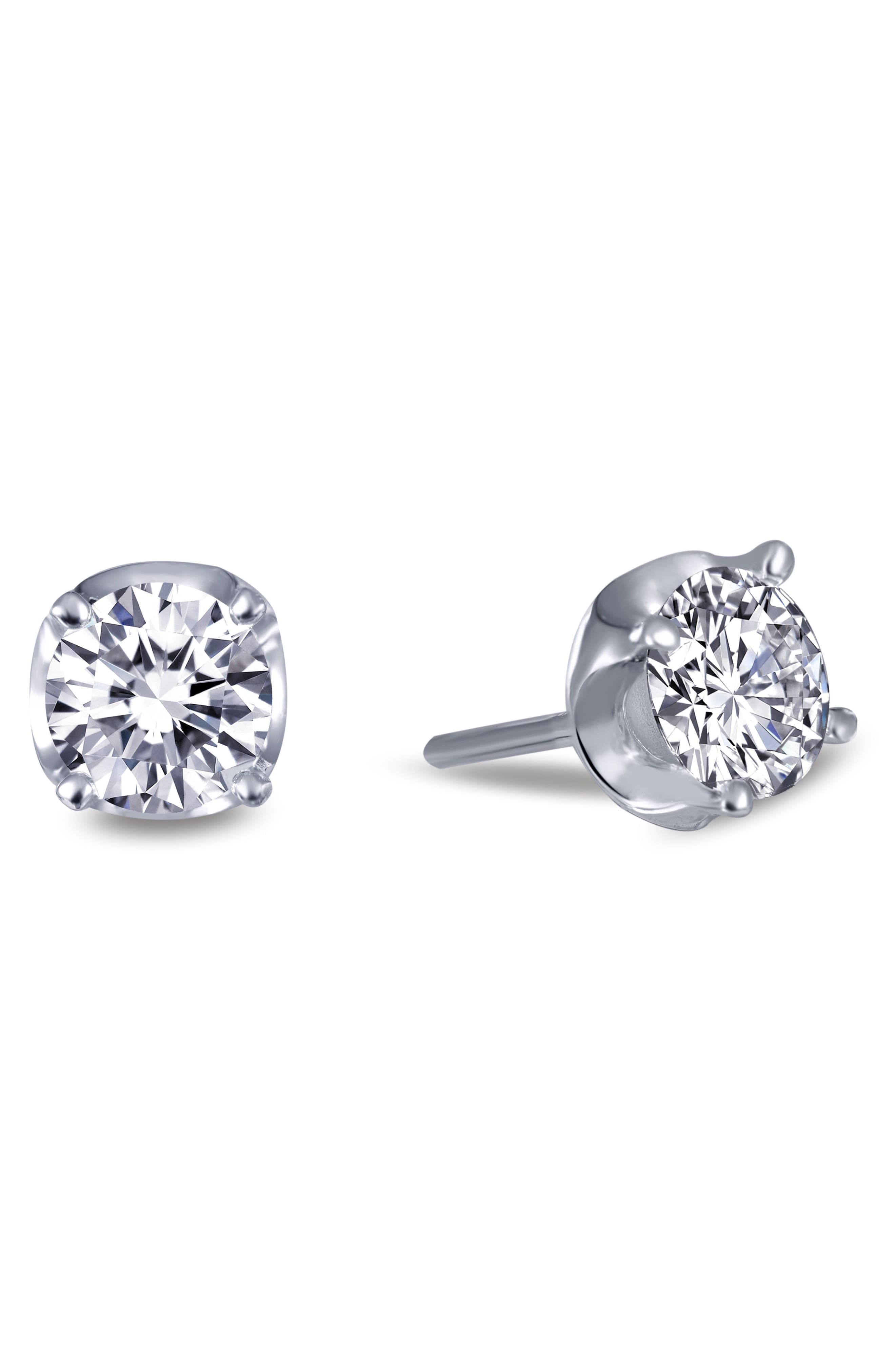 Simulated Diamond Stud Earrings,                             Alternate thumbnail 3, color,