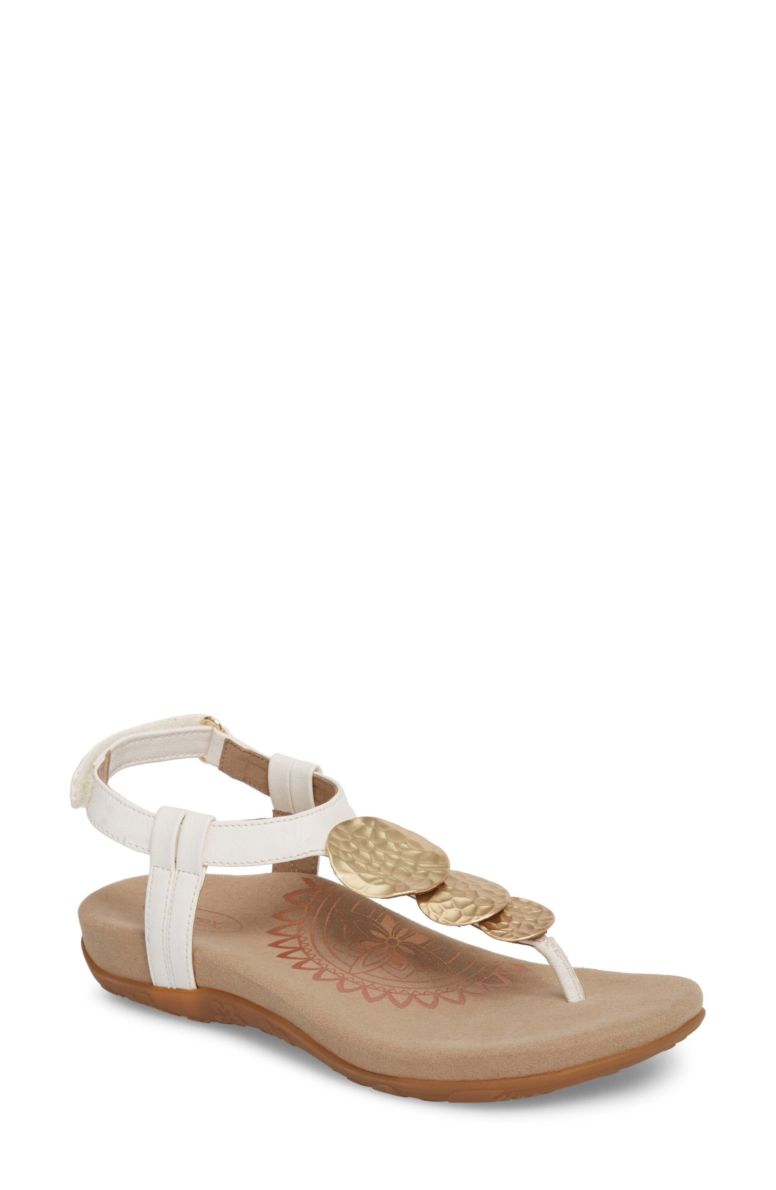 Olive T-Strap Sandal,                             Main thumbnail 2, color,