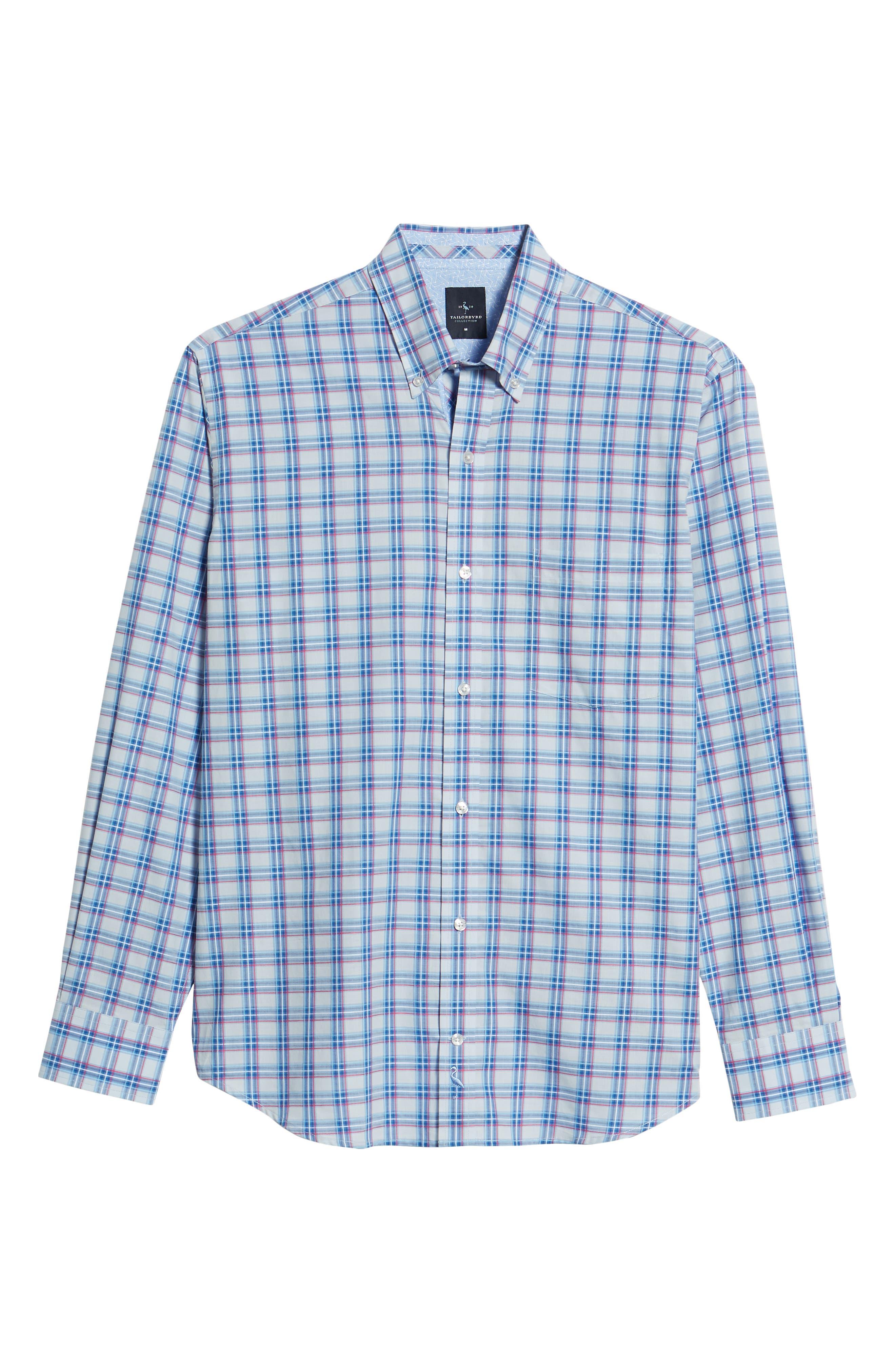 Alvaro Regular Fit Plaid Sport Shirt,                             Alternate thumbnail 6, color,                             450