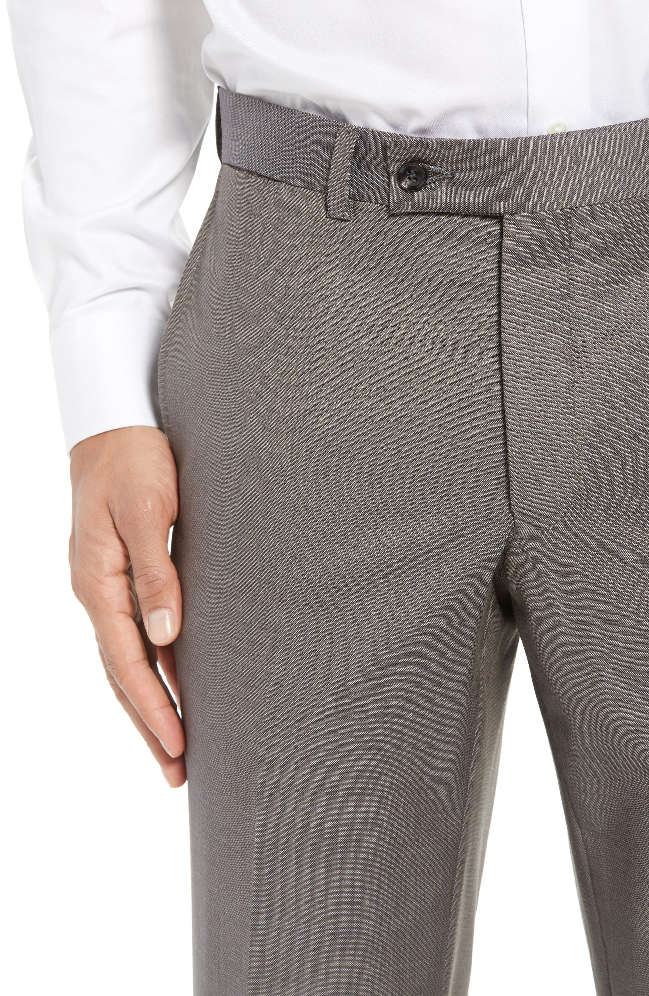Jefferson Flat Front Wool Trousers,                             Alternate thumbnail 27, color,