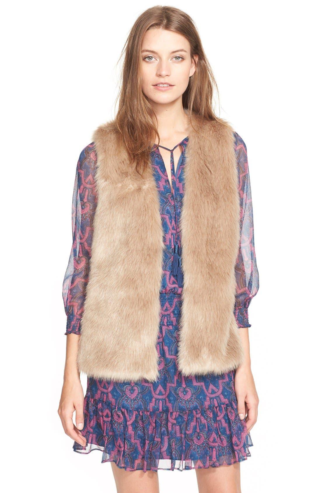 'Nimoy' Faux Fur Vest,                             Main thumbnail 1, color,                             340