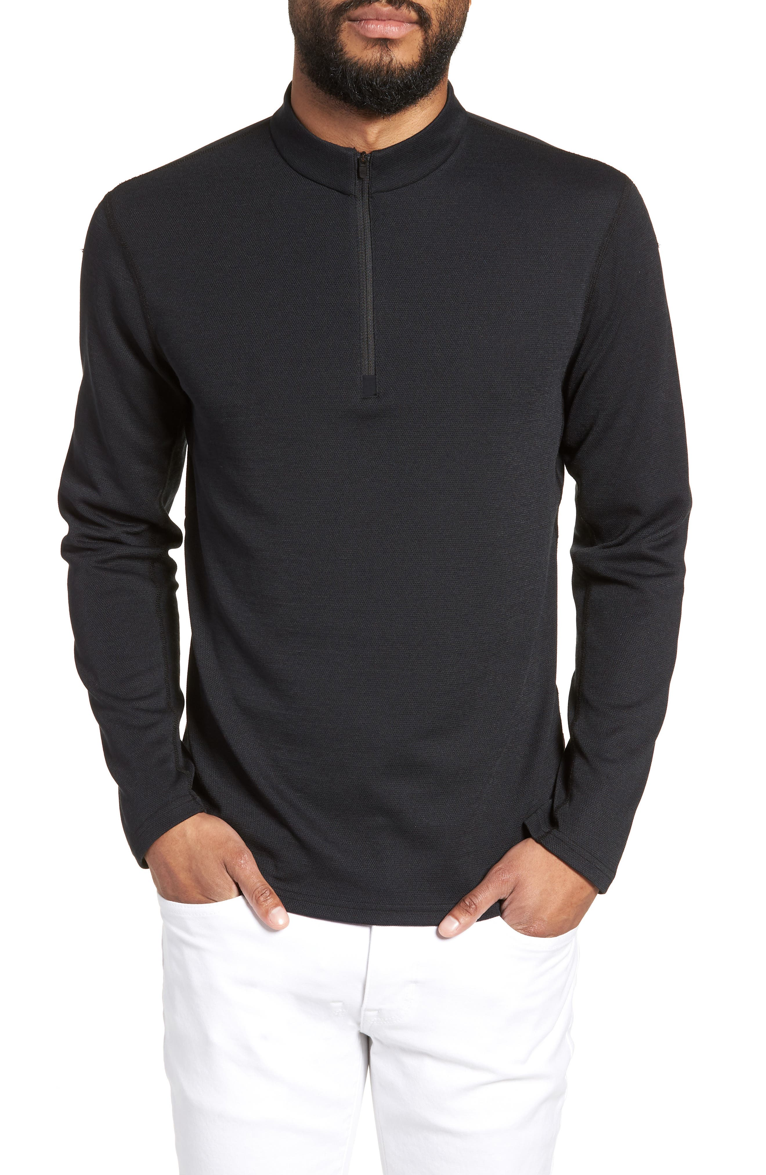 Powerdry Trail Quarter Zip Pullover,                             Main thumbnail 1, color,                             001