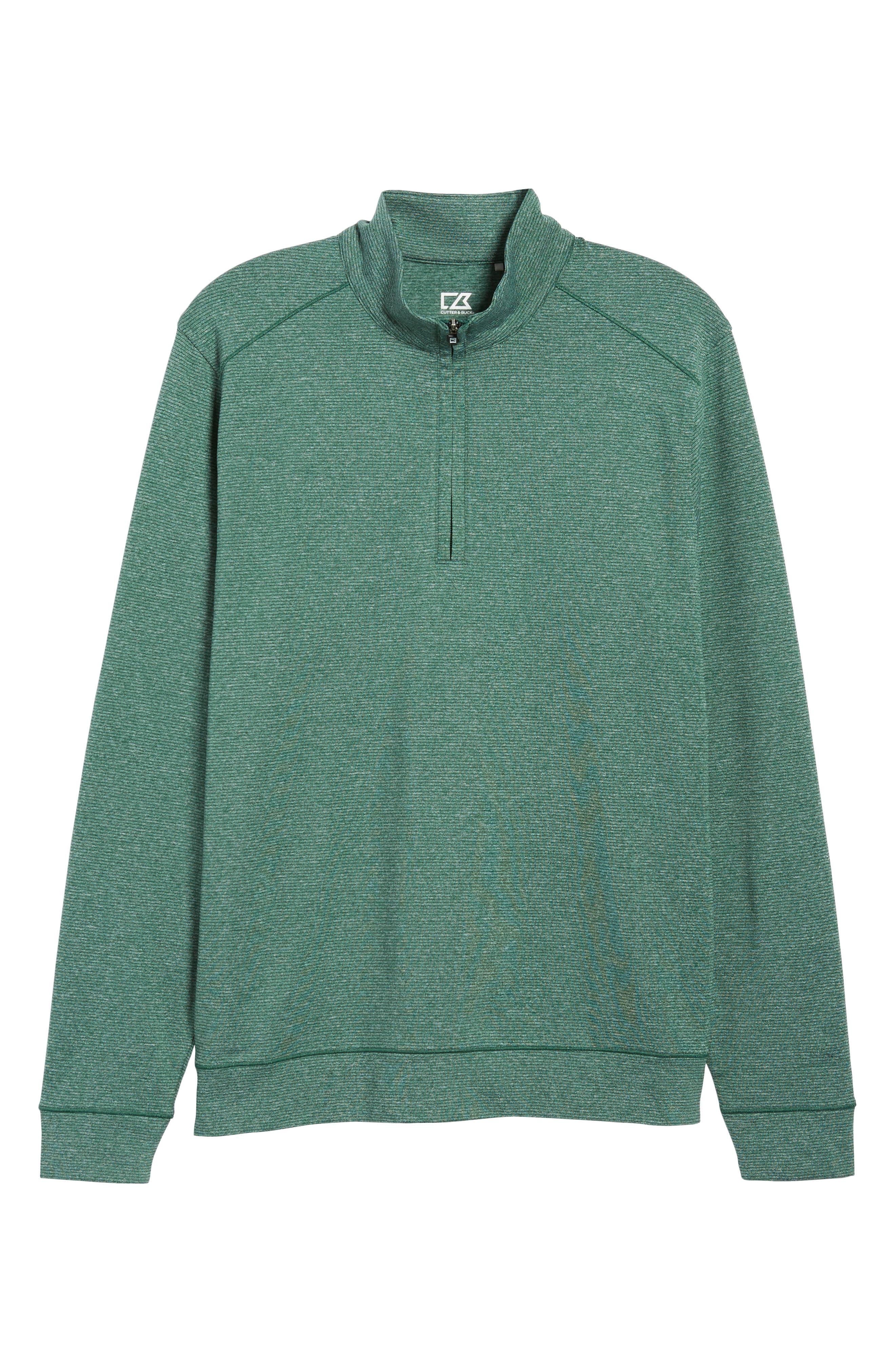 Shoreline Classic Fit Half Zip Pullover,                             Alternate thumbnail 6, color,                             HUNTER HEATHER