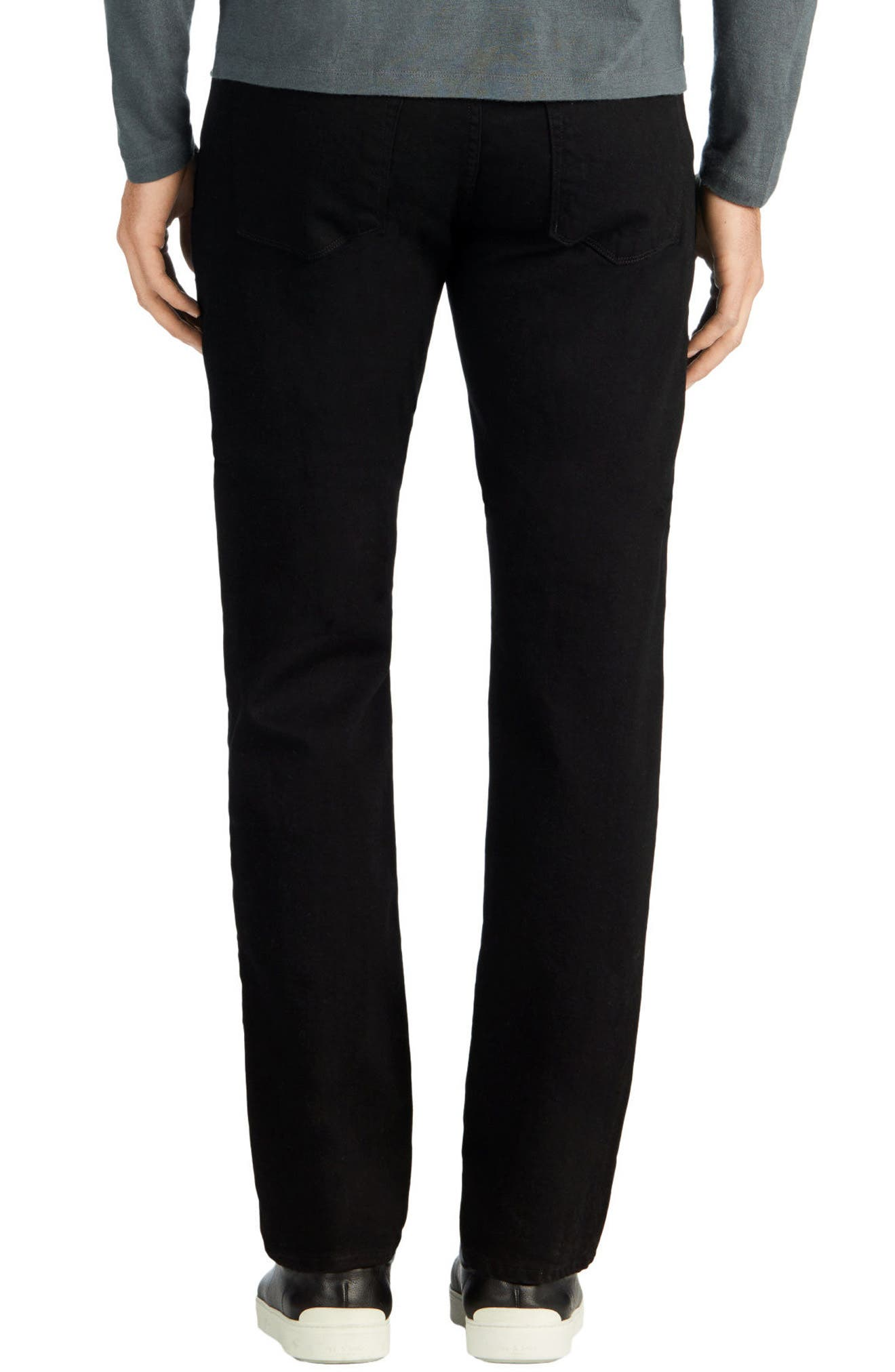 J BRAND,                             Kane Slim Straight Leg Jeans,                             Alternate thumbnail 2, color,                             TRIVOR BLACK