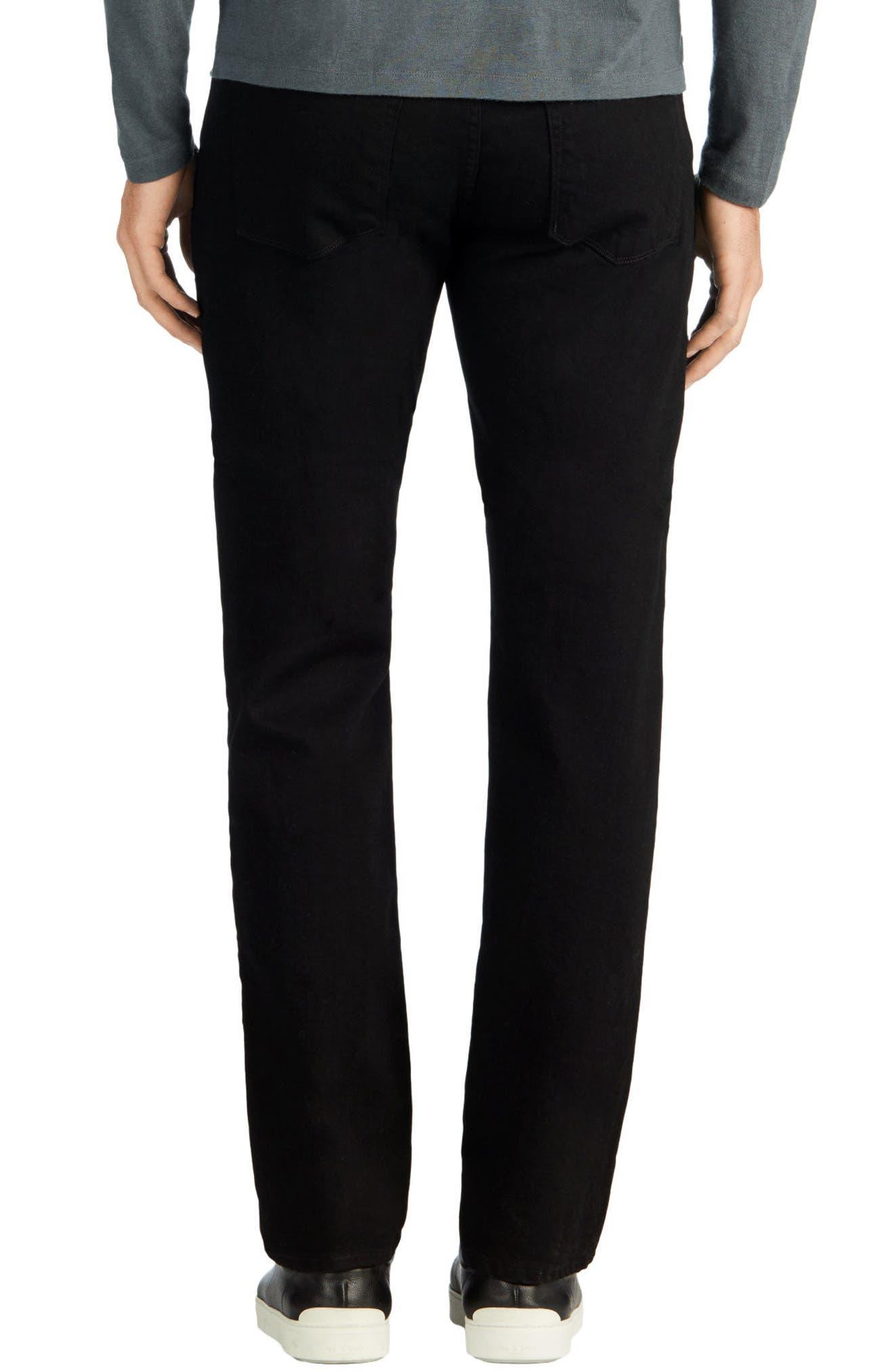 Kane Slim Straight Leg Jeans,                             Alternate thumbnail 3, color,                             TRIVOR BLACK