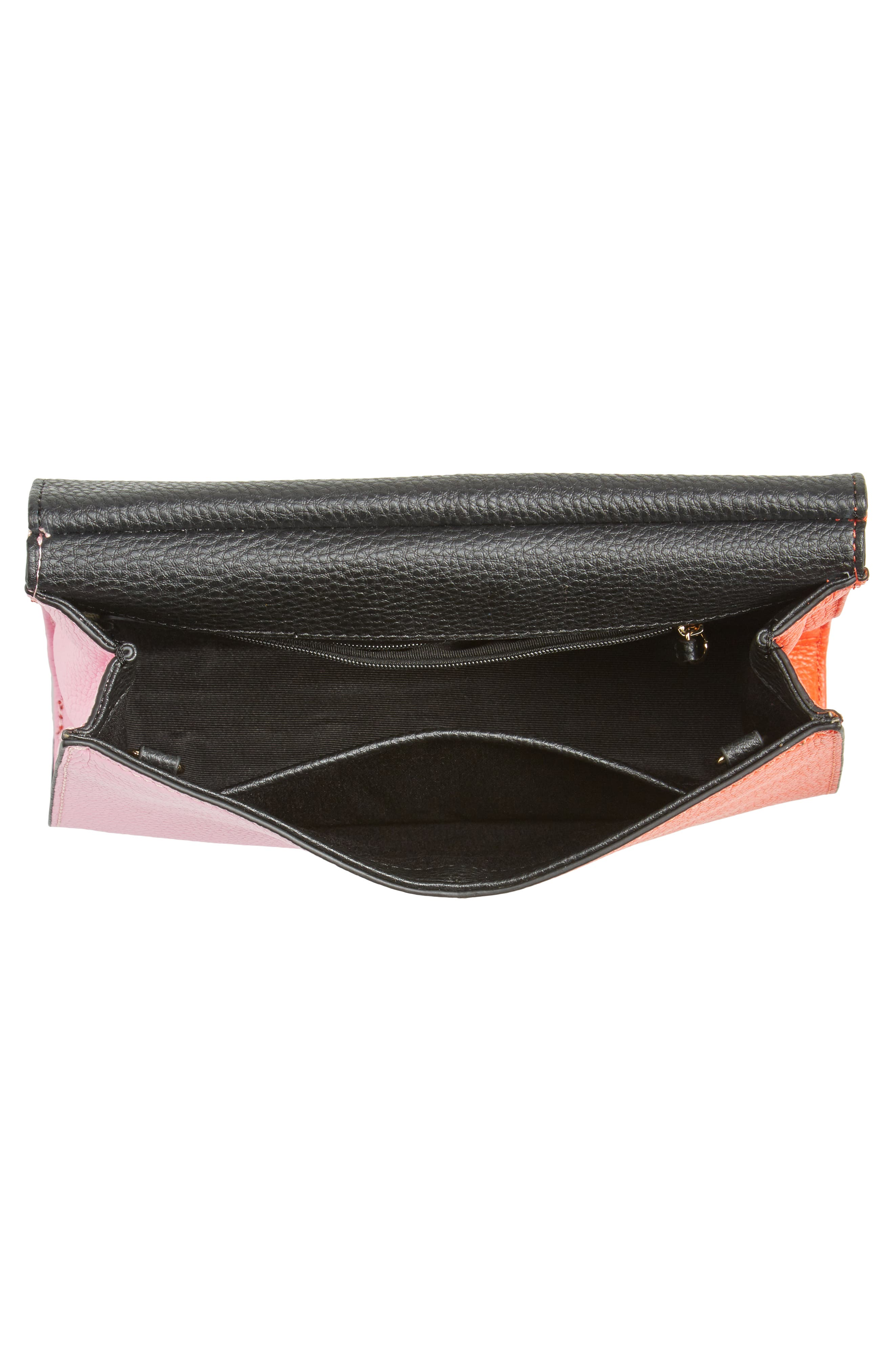 Astor Pebbled Leather Flap Clutch,                             Alternate thumbnail 16, color,