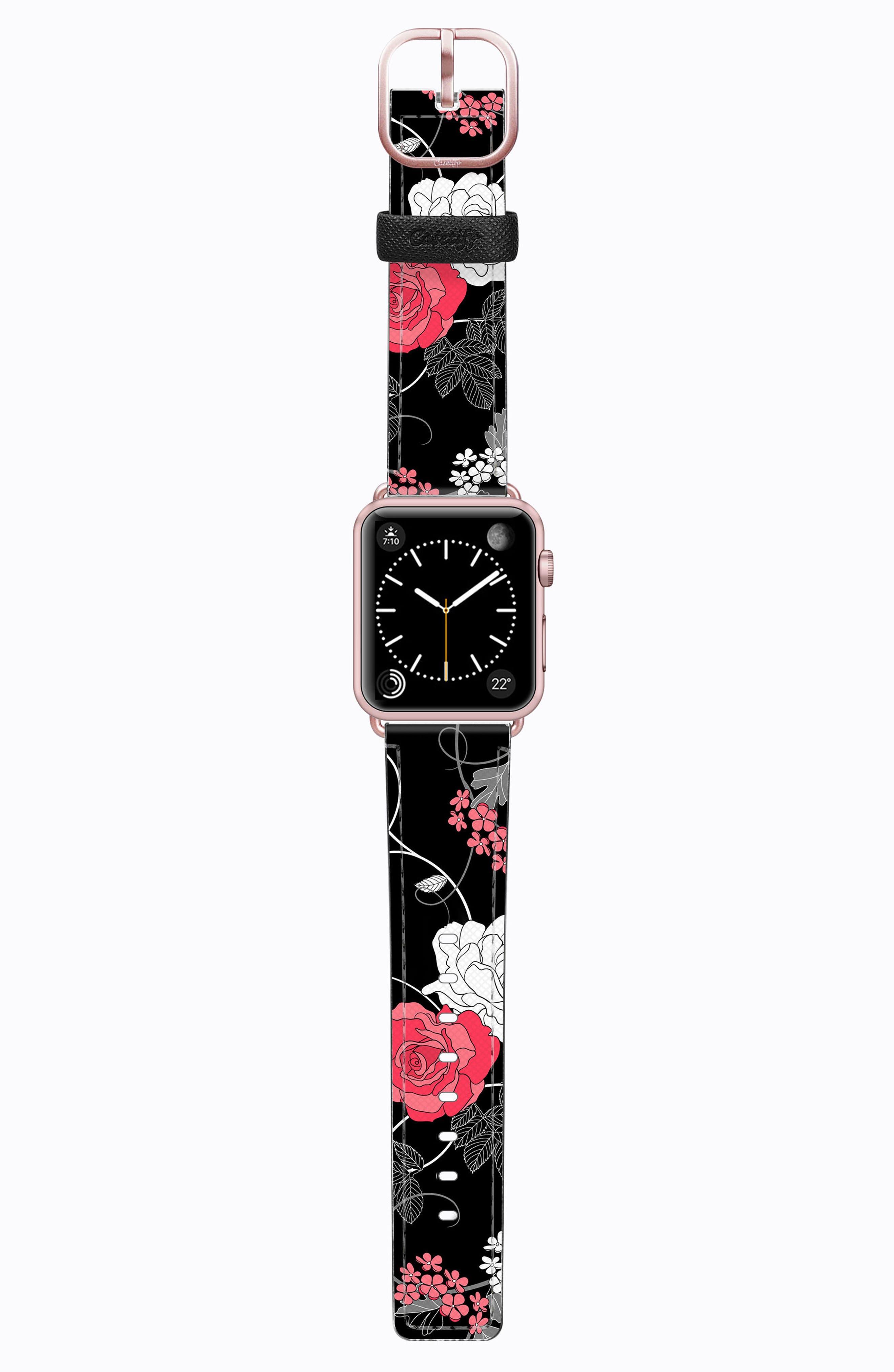 Saffiano Faux Leather Apple Watch Strap,                             Main thumbnail 12, color,