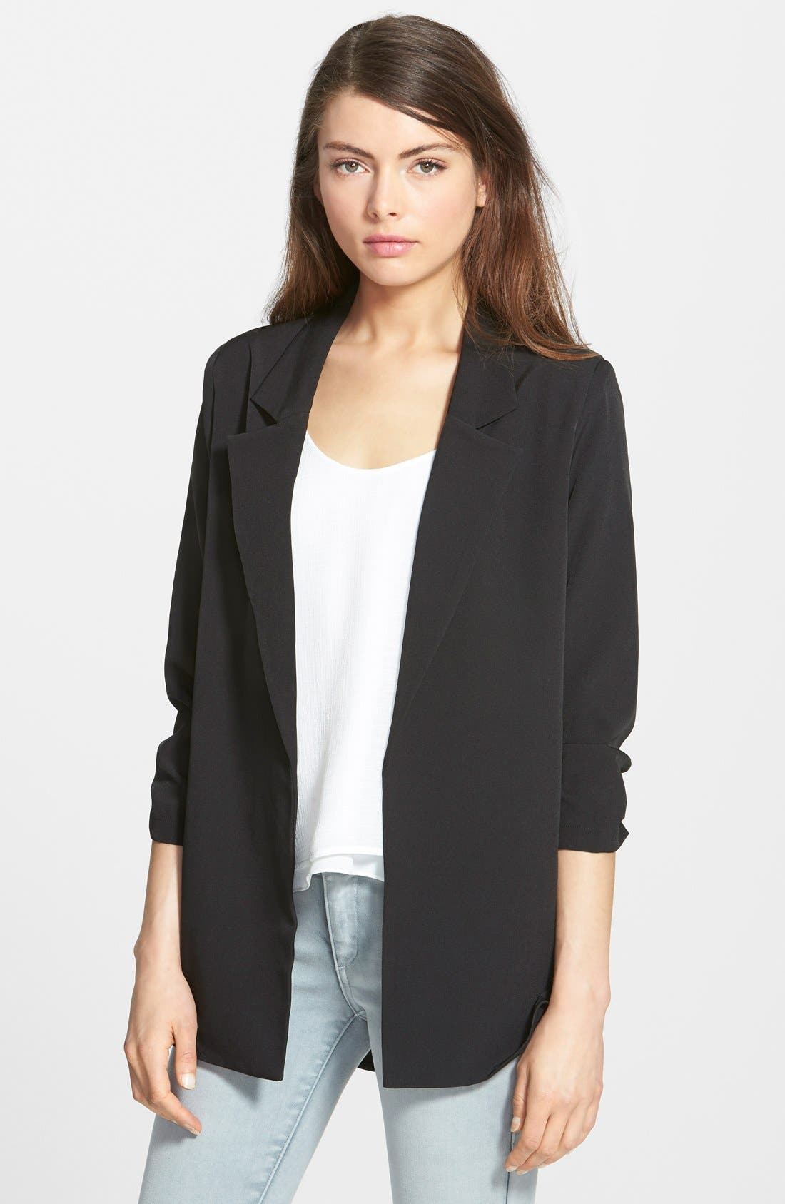 Shirttail Blazer, Main, color, 001