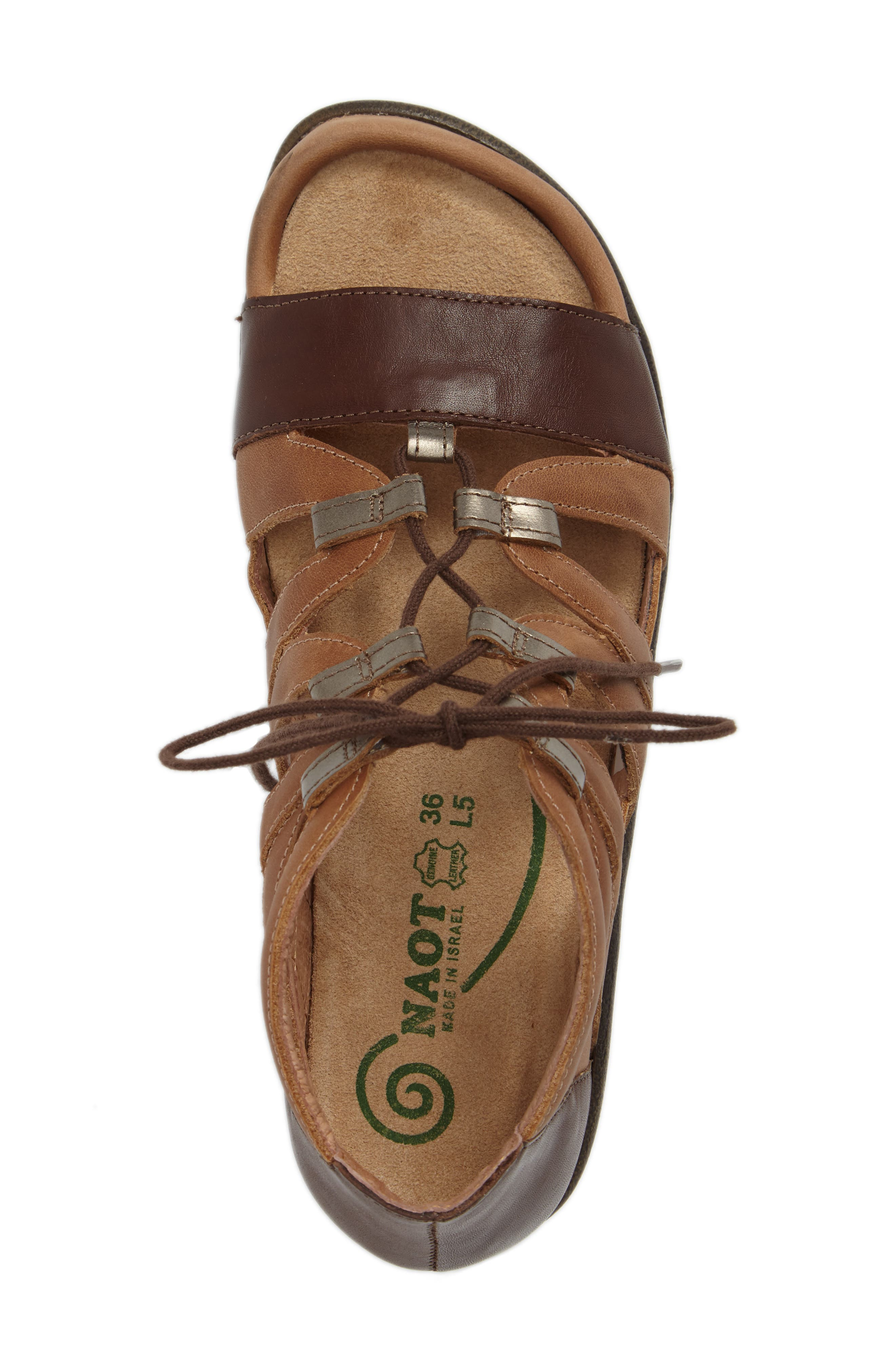 Selo Sandal,                             Alternate thumbnail 5, color,                             BROWN/ PEWTER LEATHER