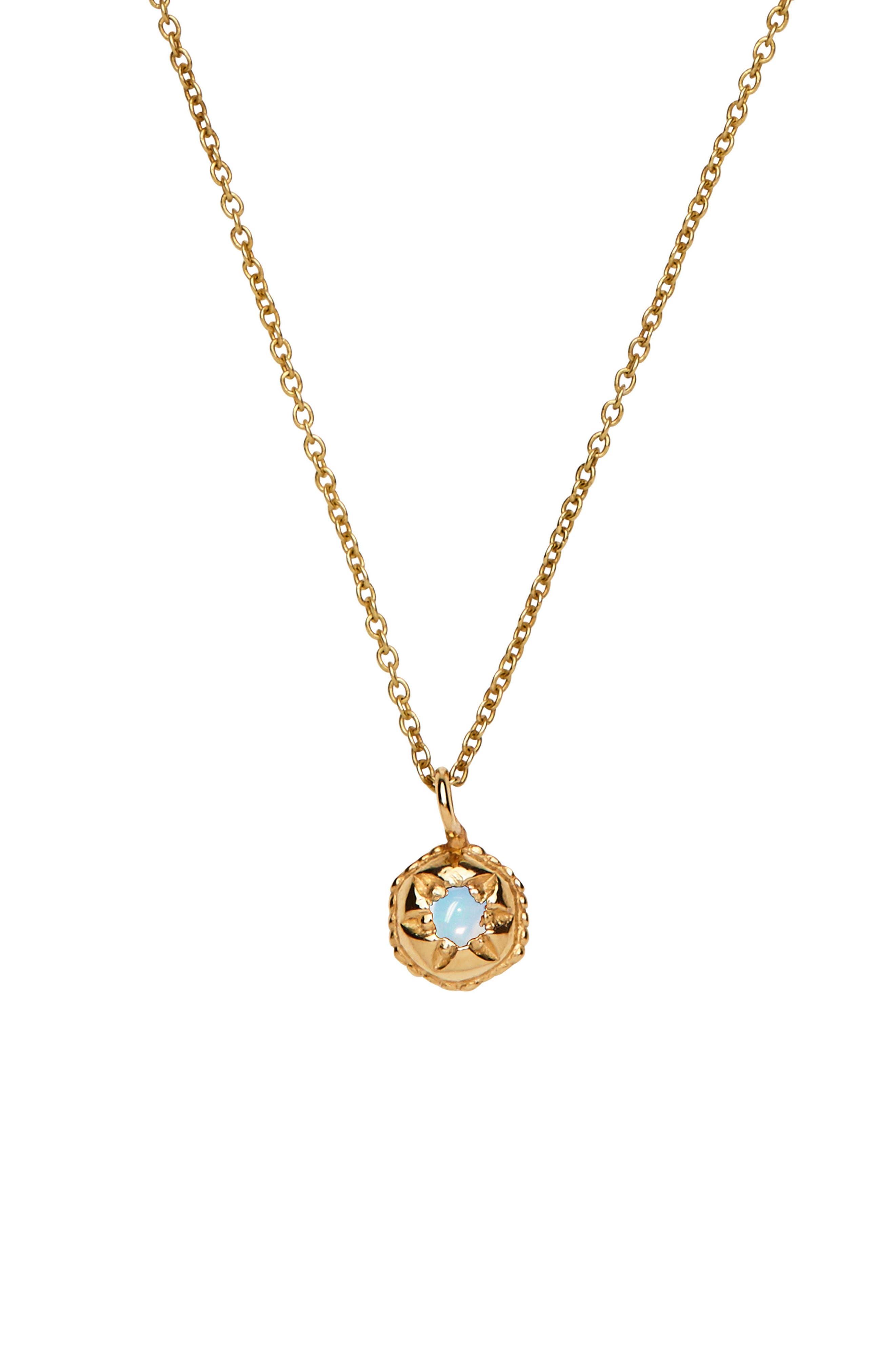 Mystic Opal Pendant Necklace,                         Main,                         color, YELLOW GOLD/ OPAL