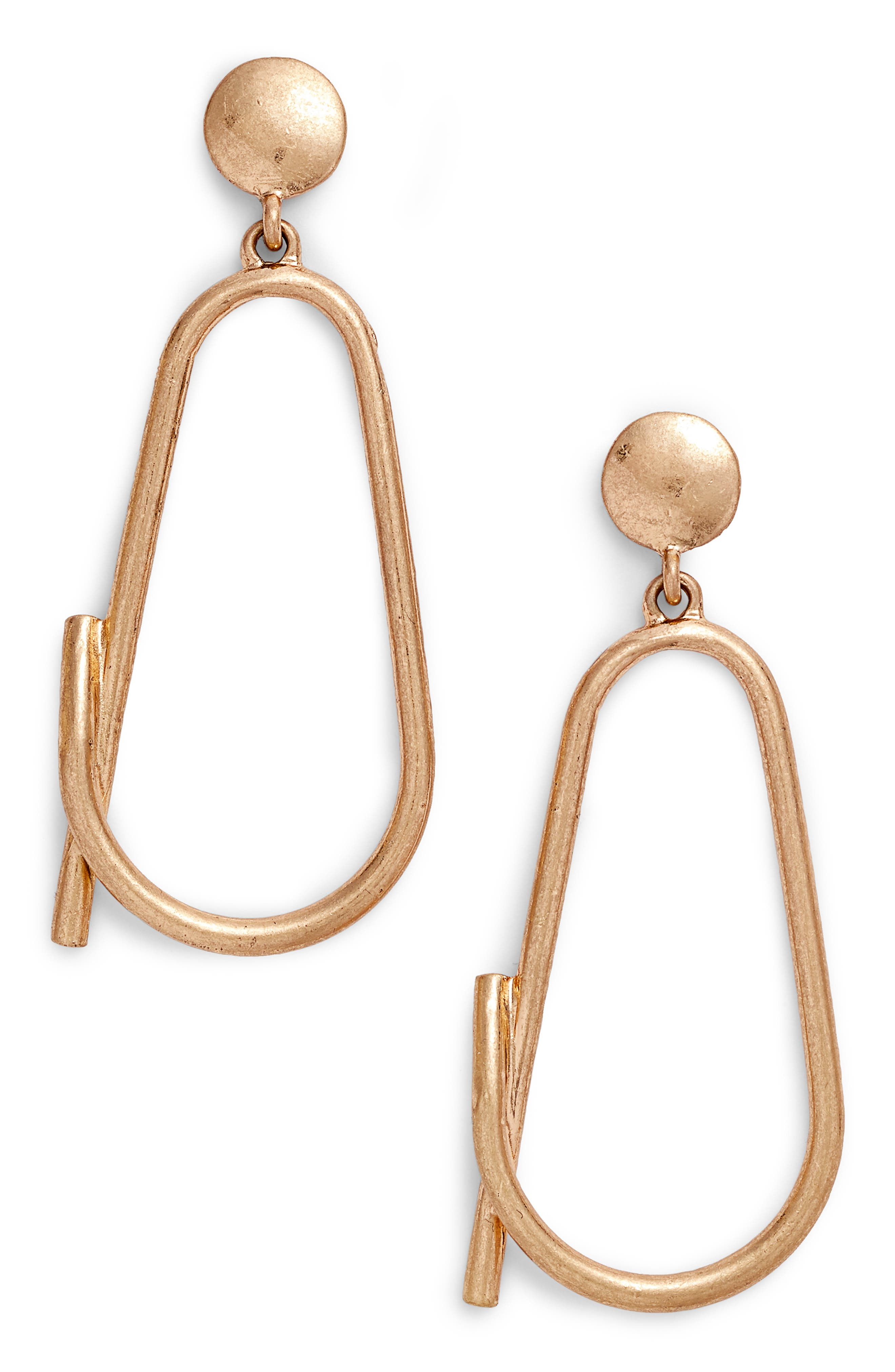 Sculptural Loop Drop Earrings,                         Main,                         color,