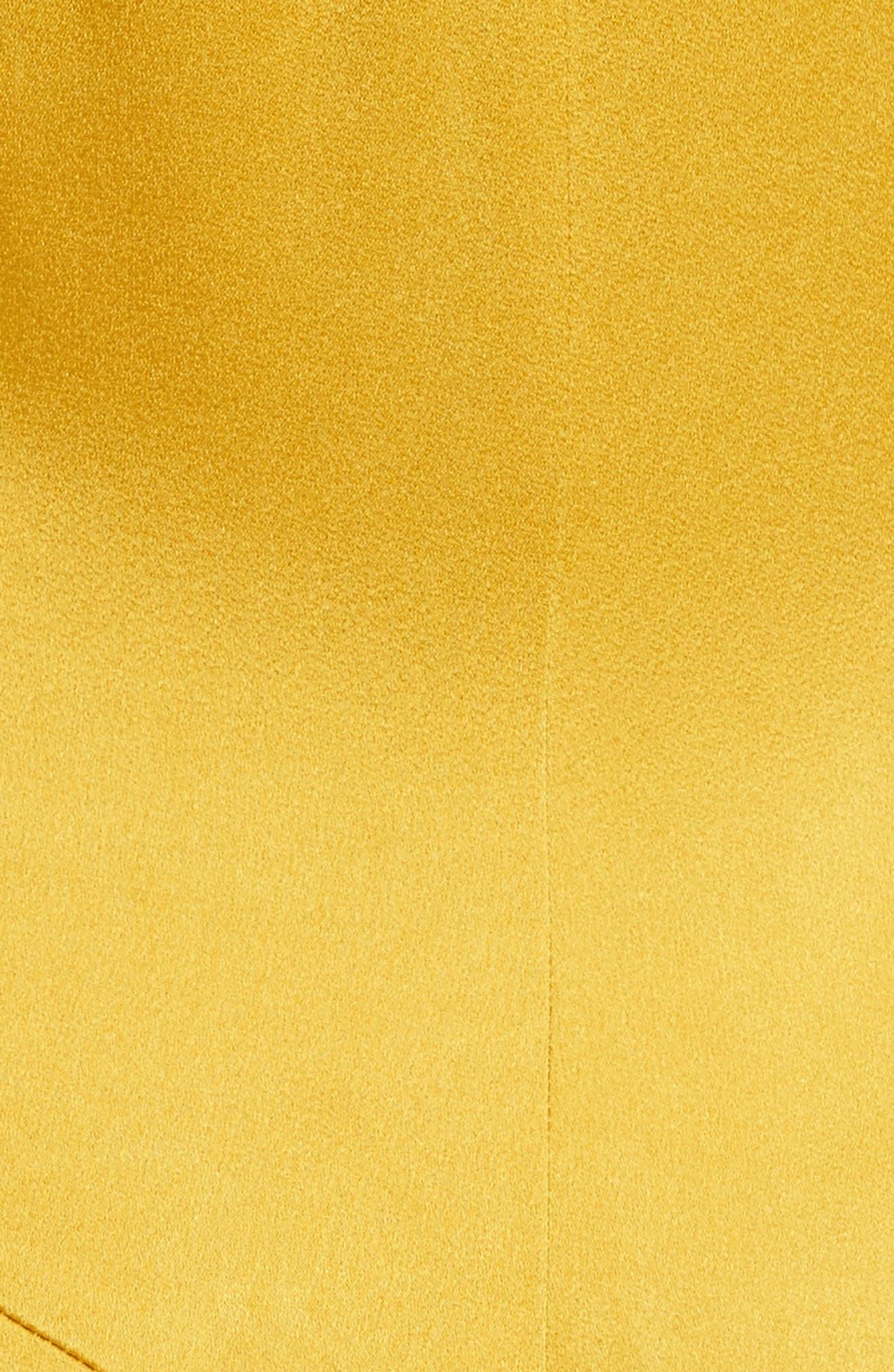 Crepe Back Satin Cold Shoulder Dress,                             Alternate thumbnail 5, color,                             700