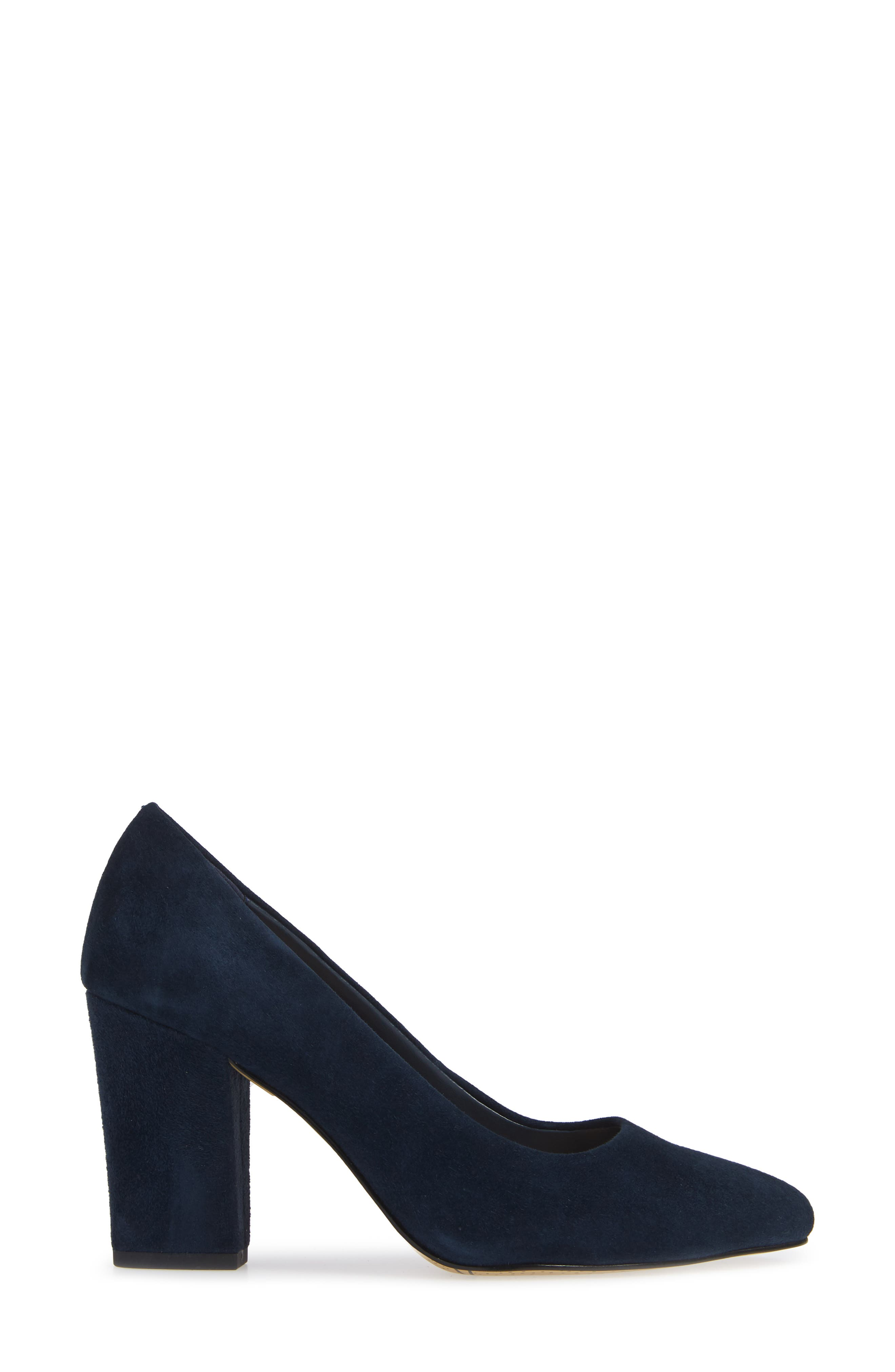 Gigi Pump,                             Alternate thumbnail 3, color,                             NAVY SUEDE