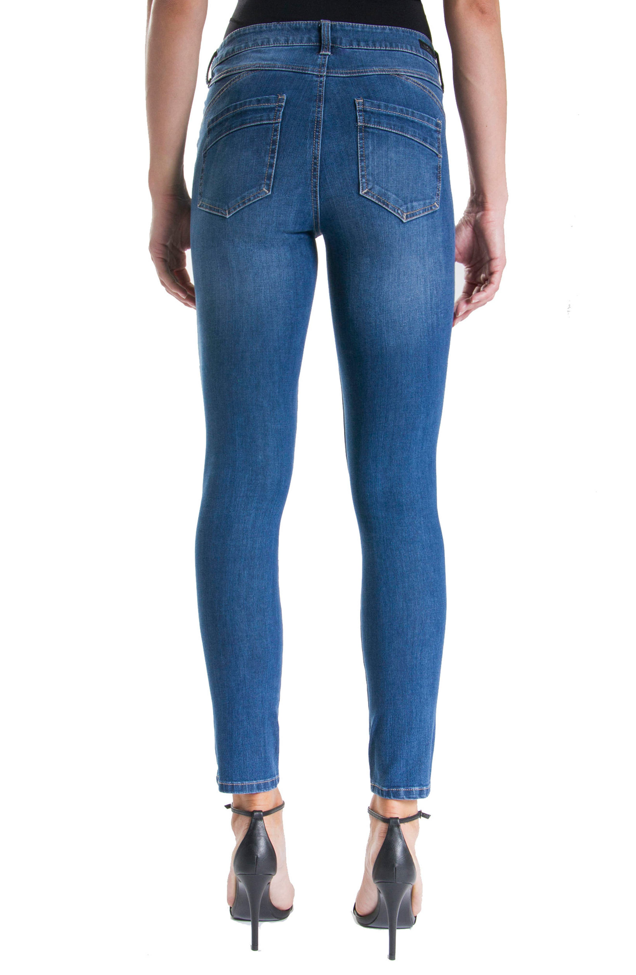 Jeans Company Piper Hugger Lift Sculpt Ankle Skinny Jeans,                             Alternate thumbnail 6, color,