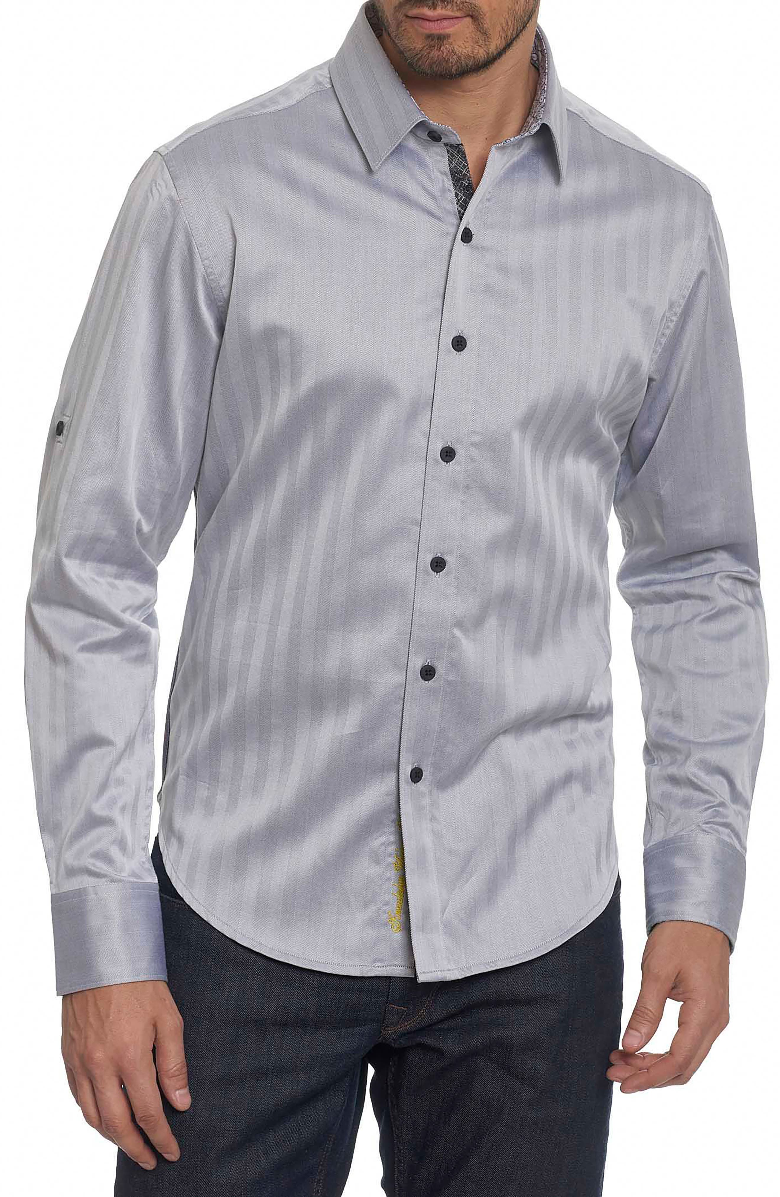 Canton Classic Fit Herringbone Sport Shirt,                         Main,                         color, 001