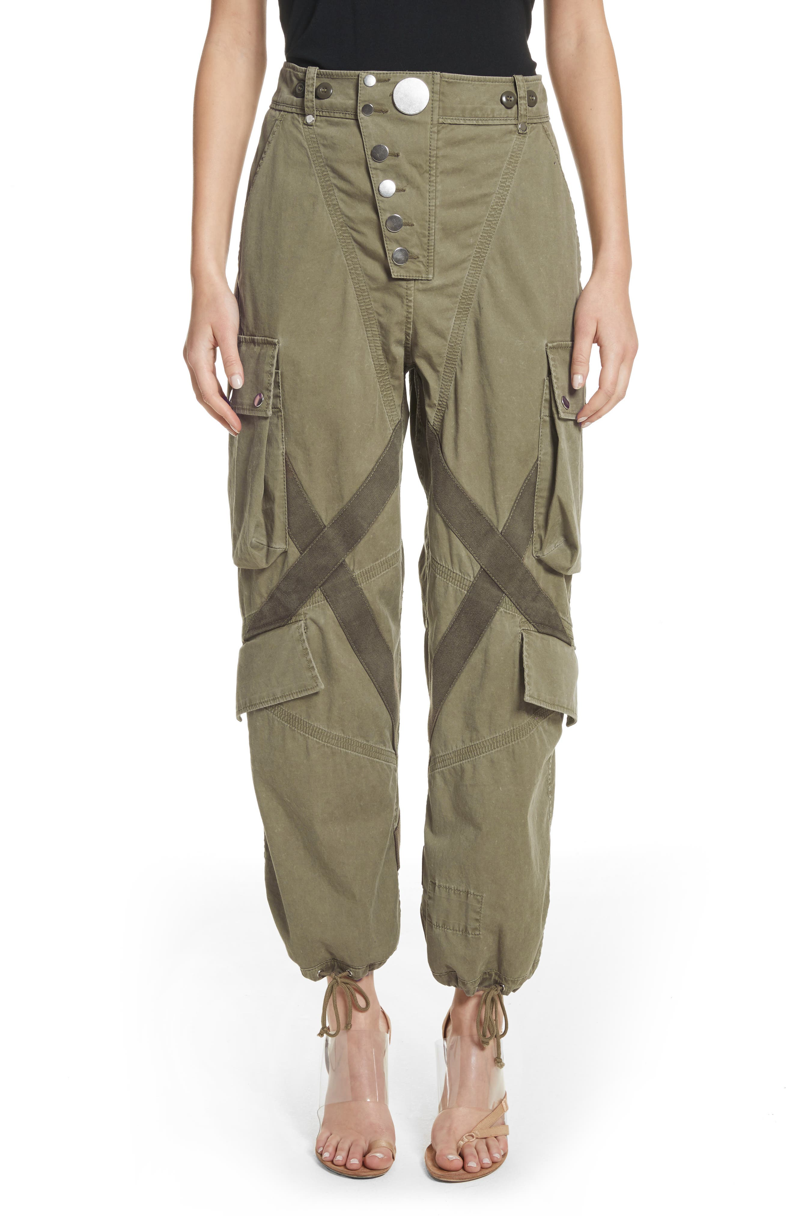 Tie Cuff Army Trousers,                             Main thumbnail 1, color,                             327