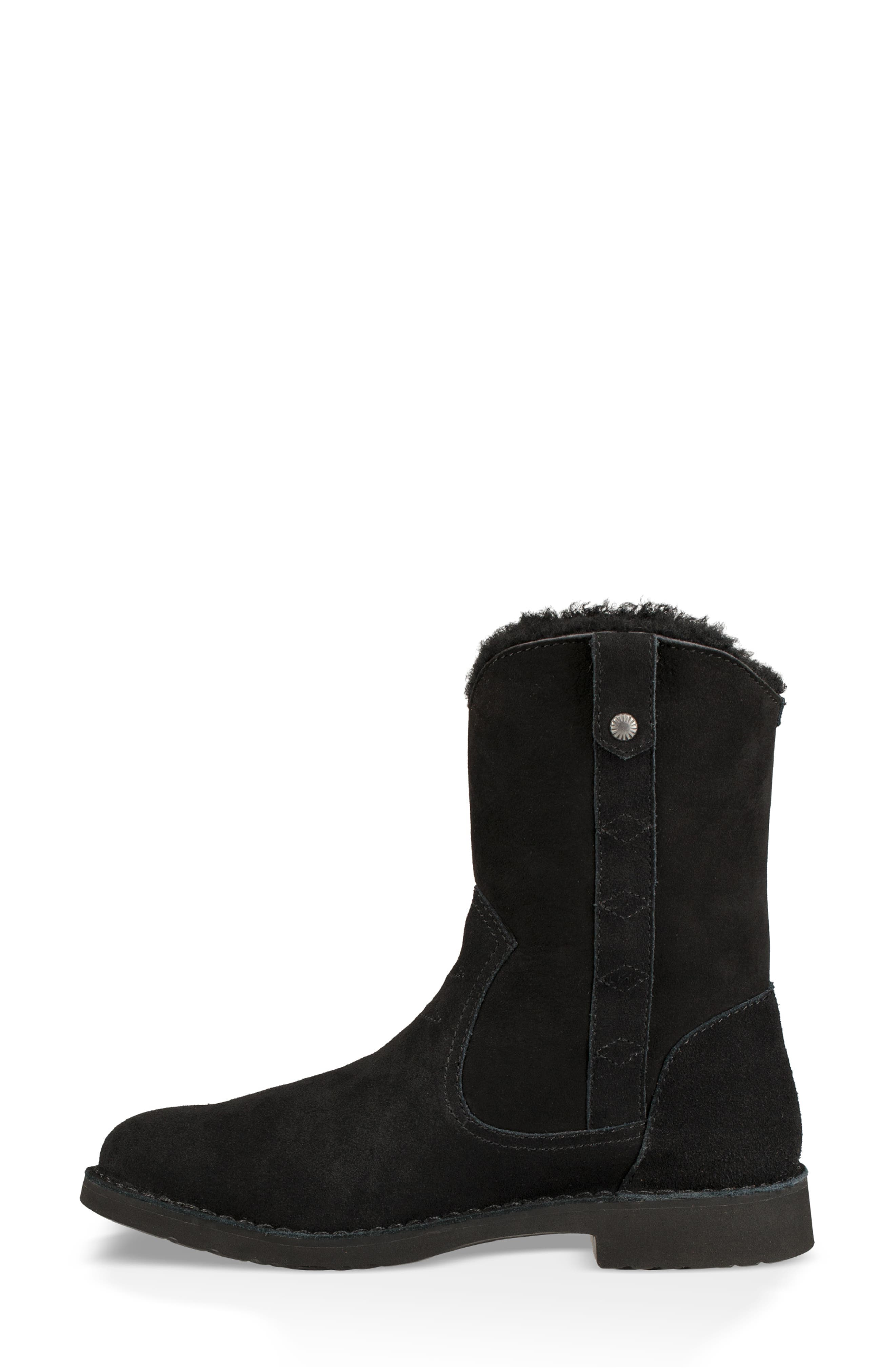 Larker Boot,                             Alternate thumbnail 6, color,                             BLACK SUEDE
