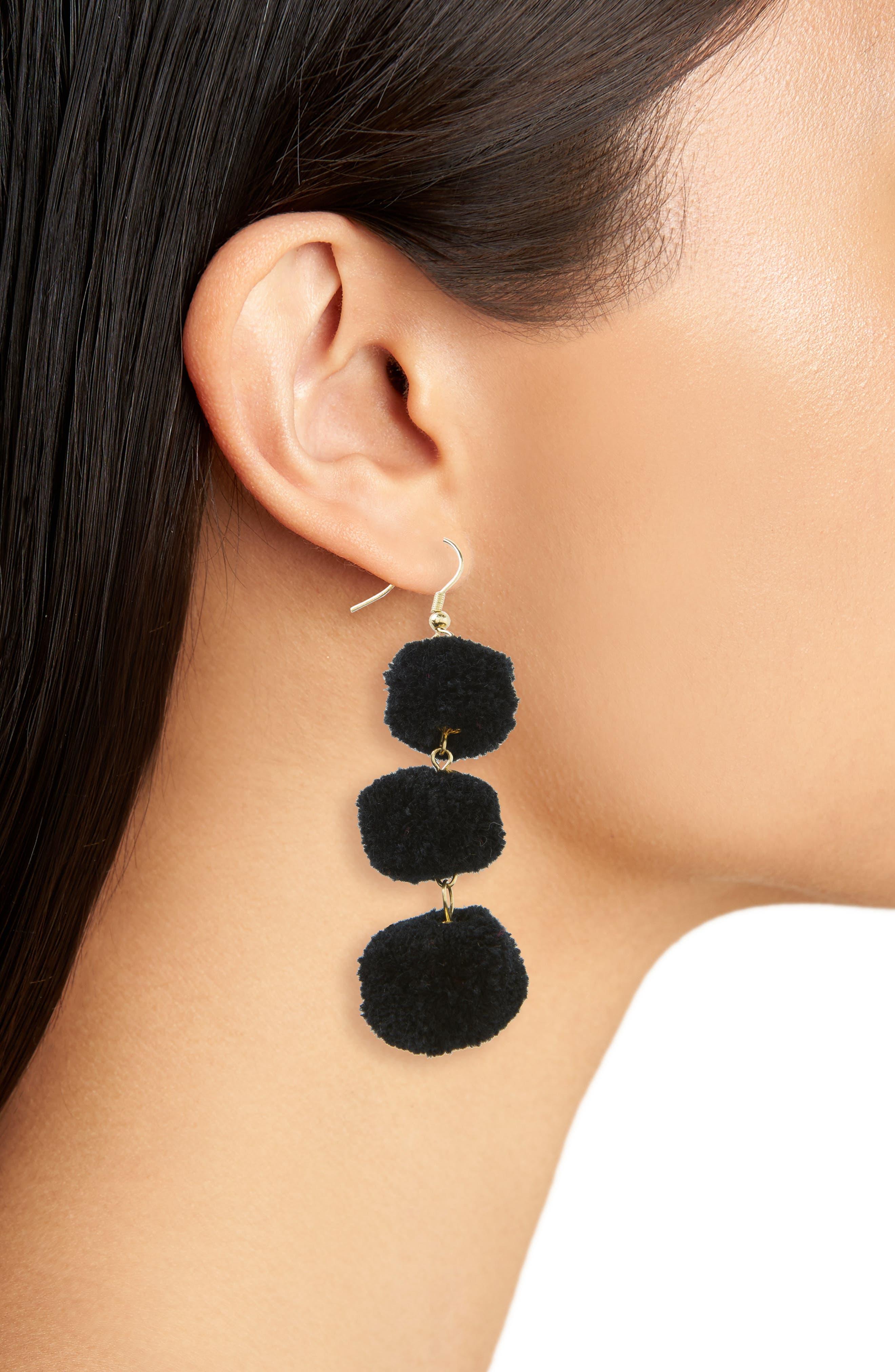 January Pom Earrings,                             Alternate thumbnail 4, color,