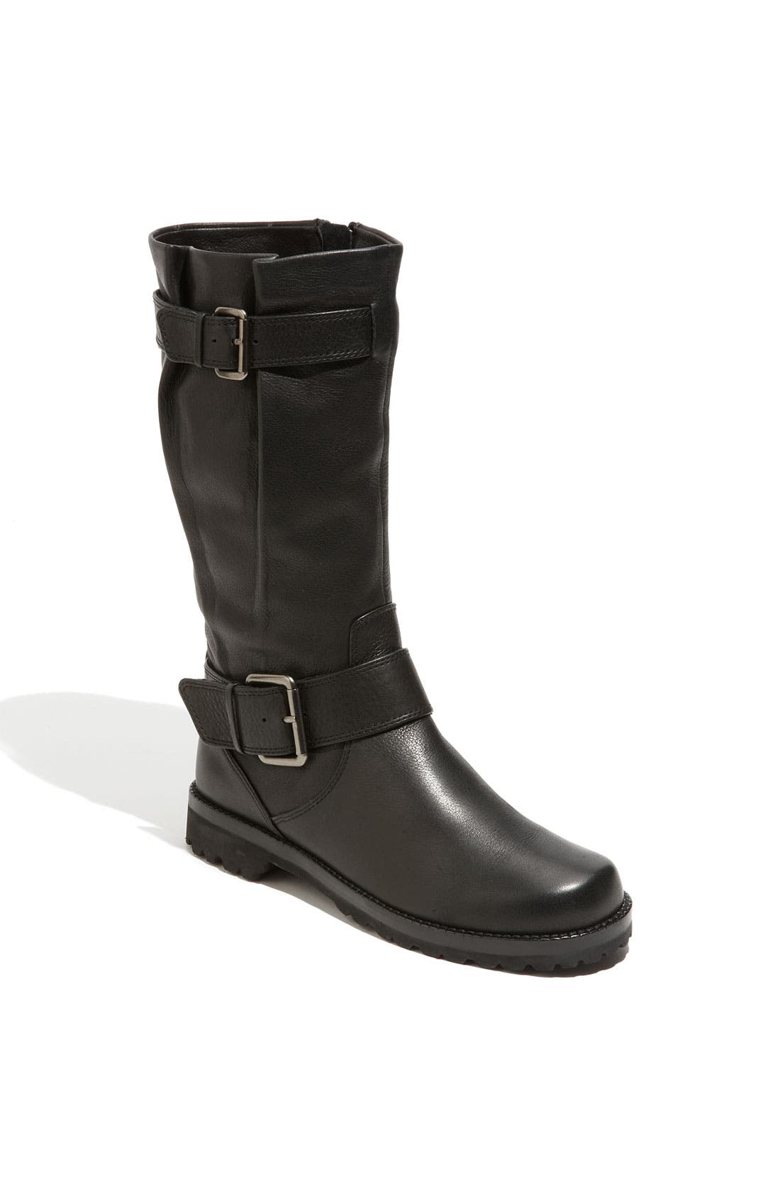 by Kenneth Cole 'Buckled Up' Boot,                             Main thumbnail 1, color,                             BLACK