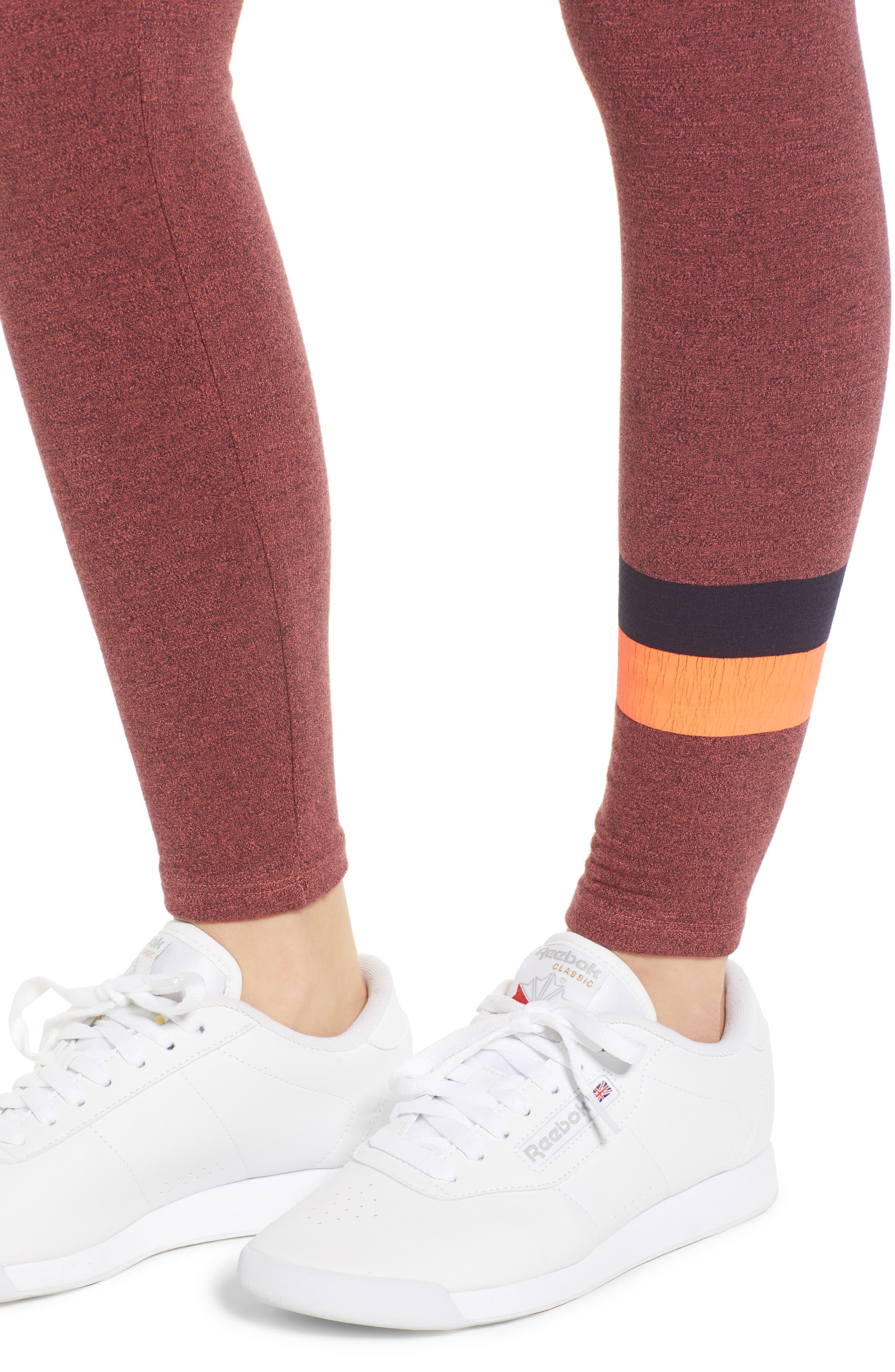 Active Stripe Yoga Pants,                             Alternate thumbnail 4, color,                             651