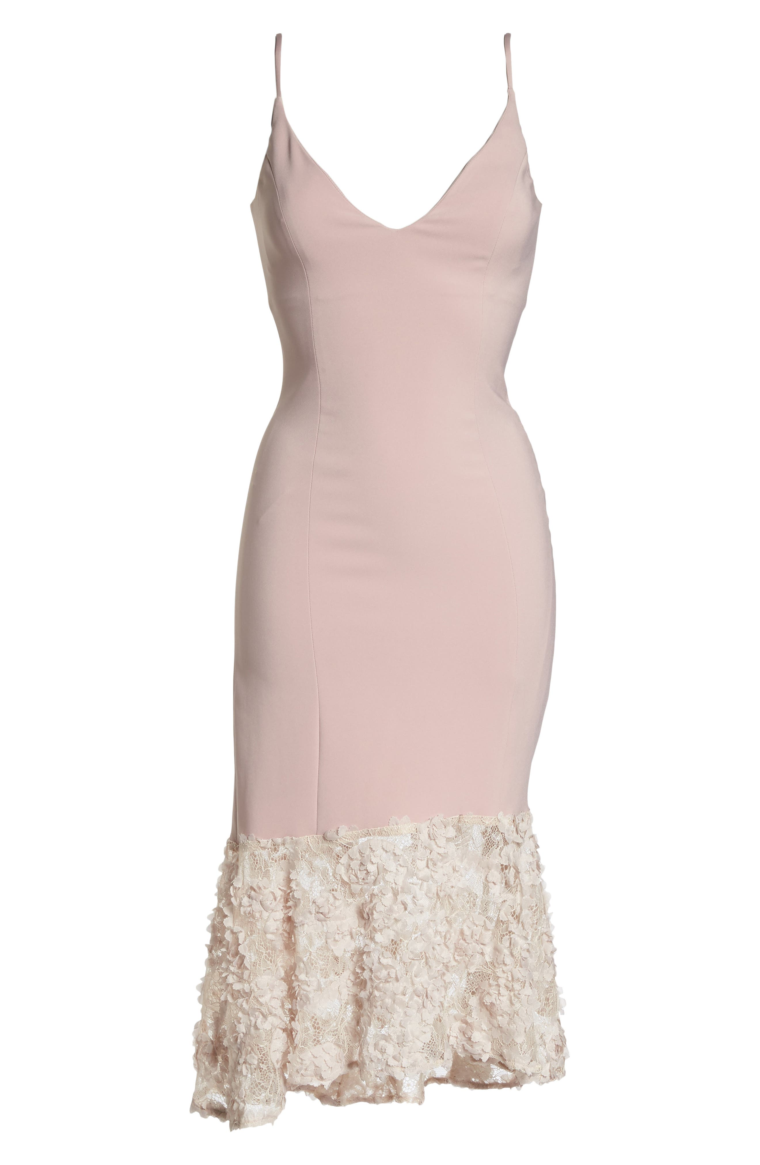 Milly Lace Flounce Slipdress,                             Alternate thumbnail 12, color,