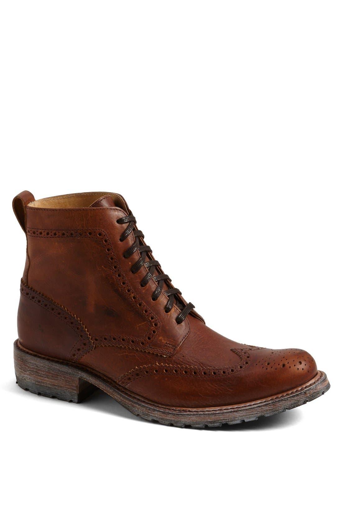 'Skye' Wingtip Boot,                         Main,                         color, TAN