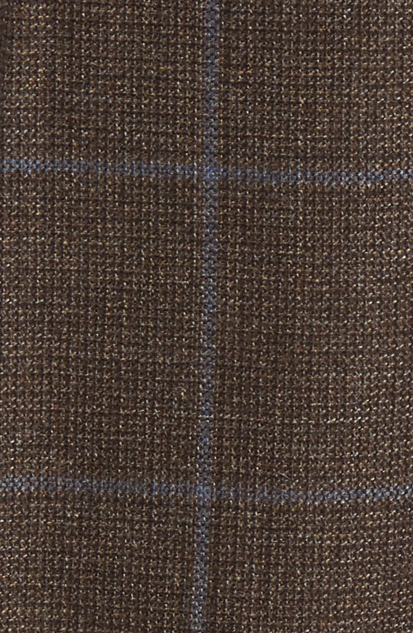 Flat Front Windowpane Wool Trousers,                             Alternate thumbnail 2, color,                             200