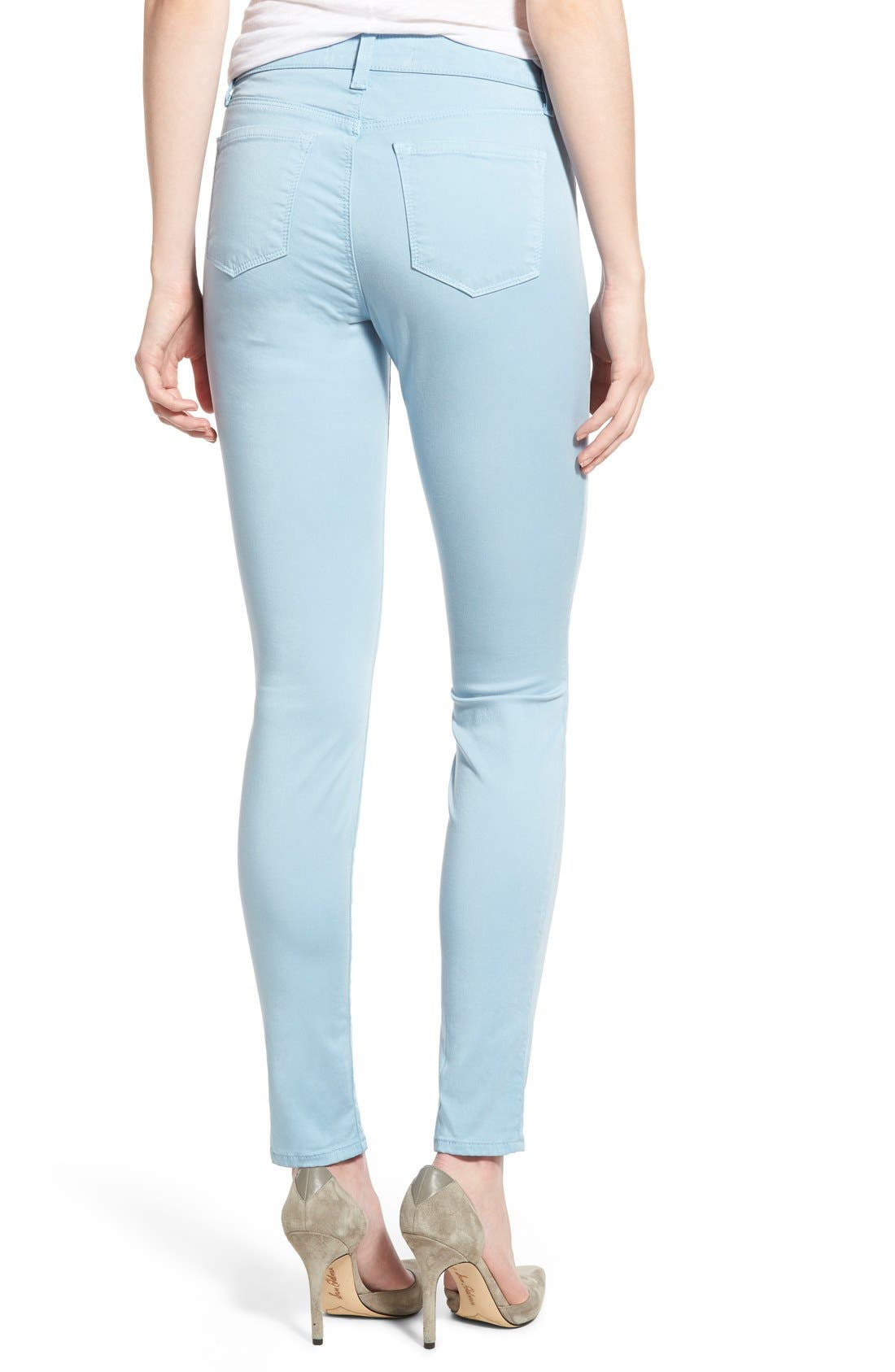 High Waist Ankle Super Skinny Jeans,                             Alternate thumbnail 34, color,