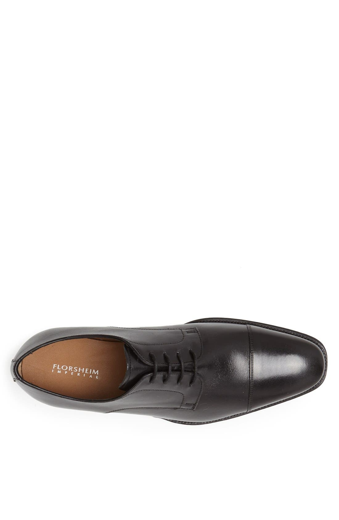 Classico Cap Toe Oxford,                             Alternate thumbnail 3, color,                             BLACK