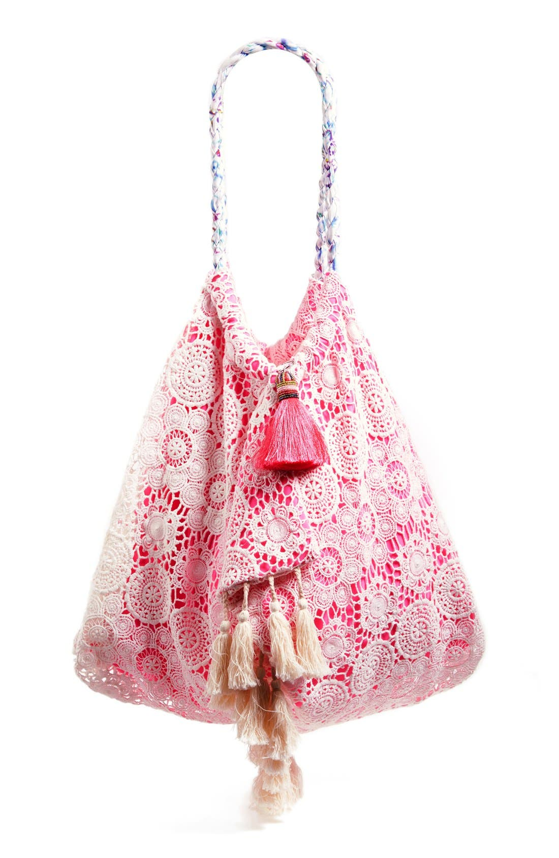 6 SHORE ROAD BY POOJA 'Sunset' Beach Bag, Main, color, 650