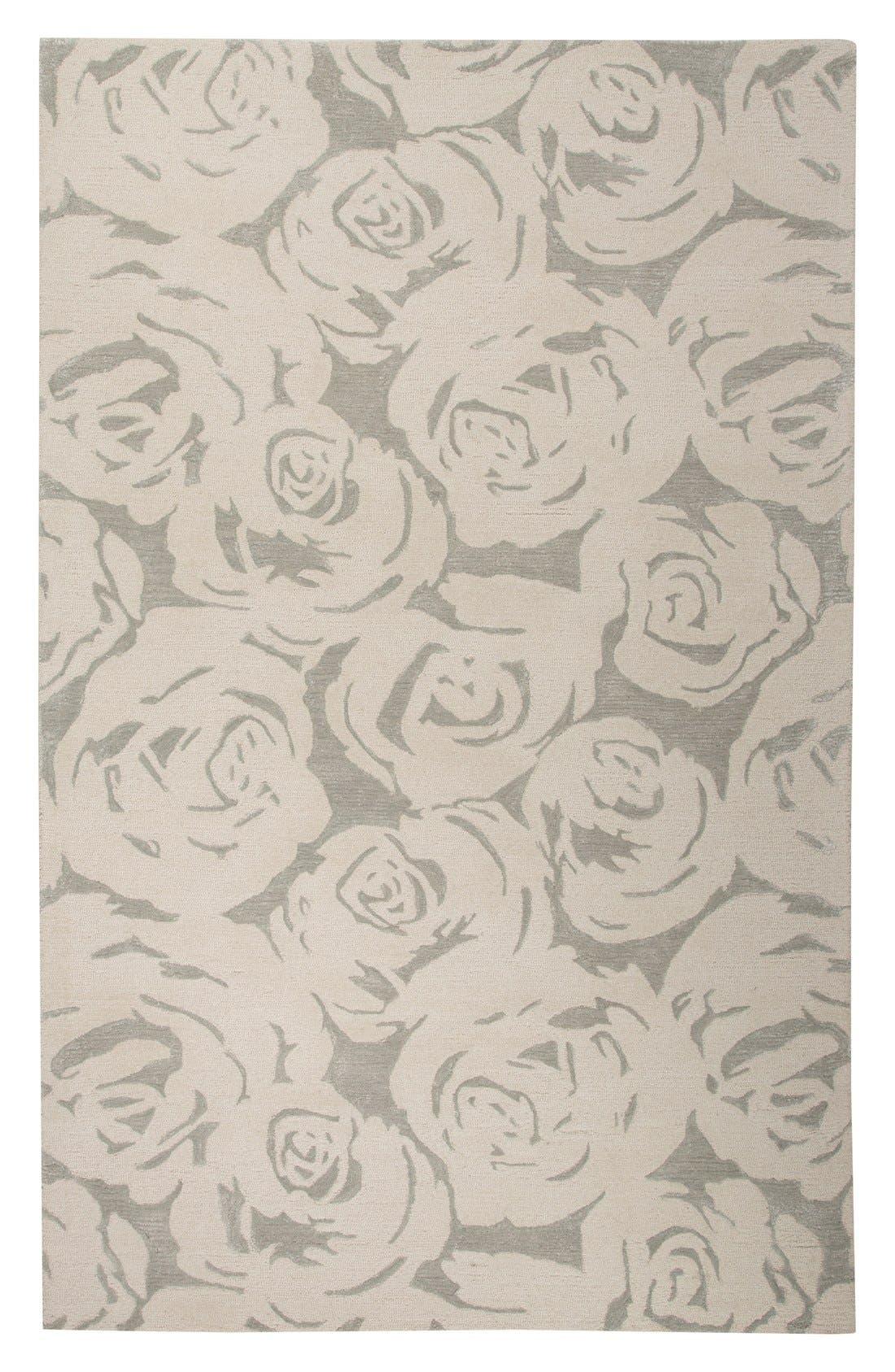 'gramercy - floral' wool & silk rug,                             Alternate thumbnail 10, color,