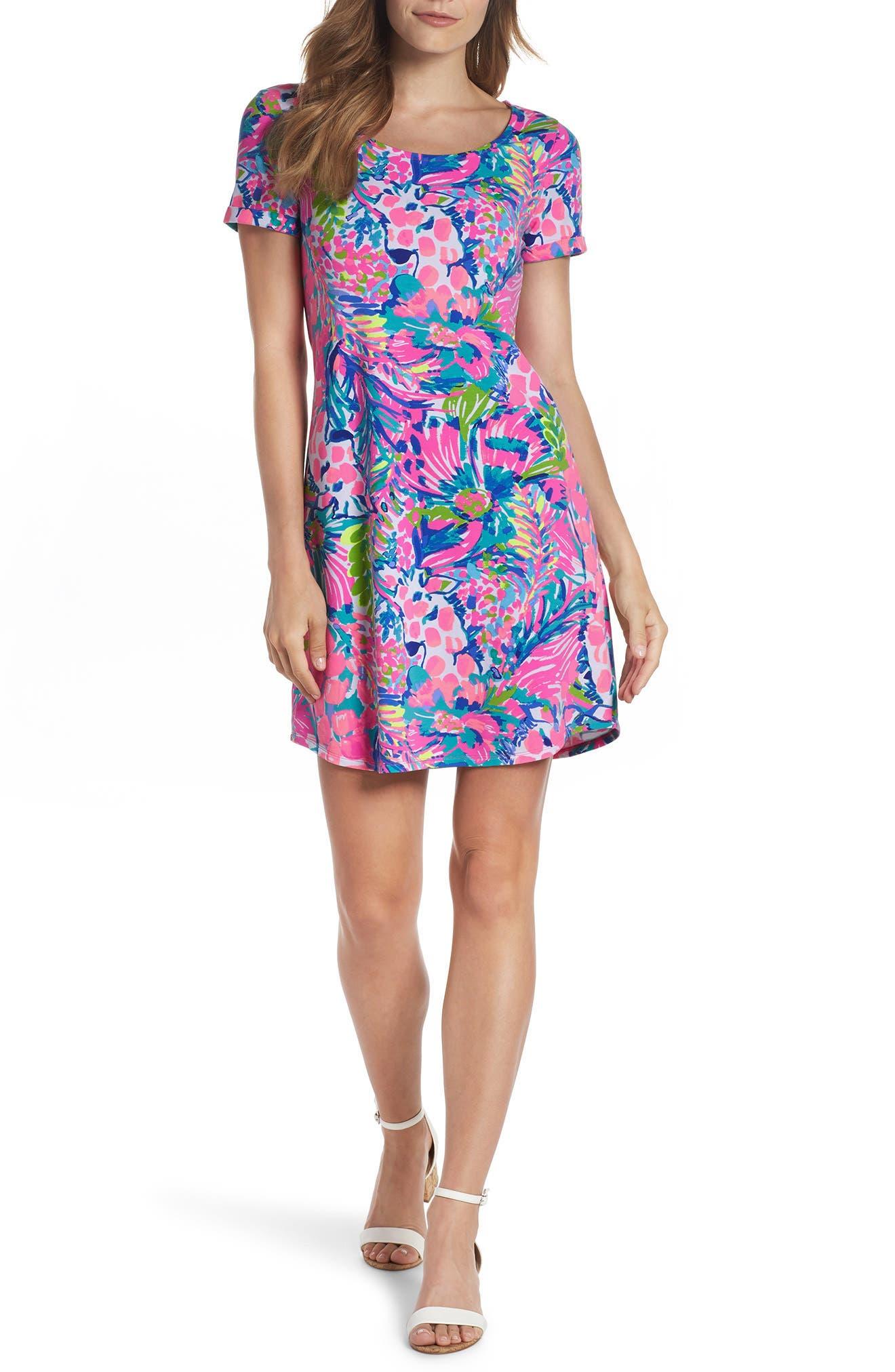 Tammy UPF 50+ Shift Dress,                         Main,                         color, MULTI GUMBO LIMBO
