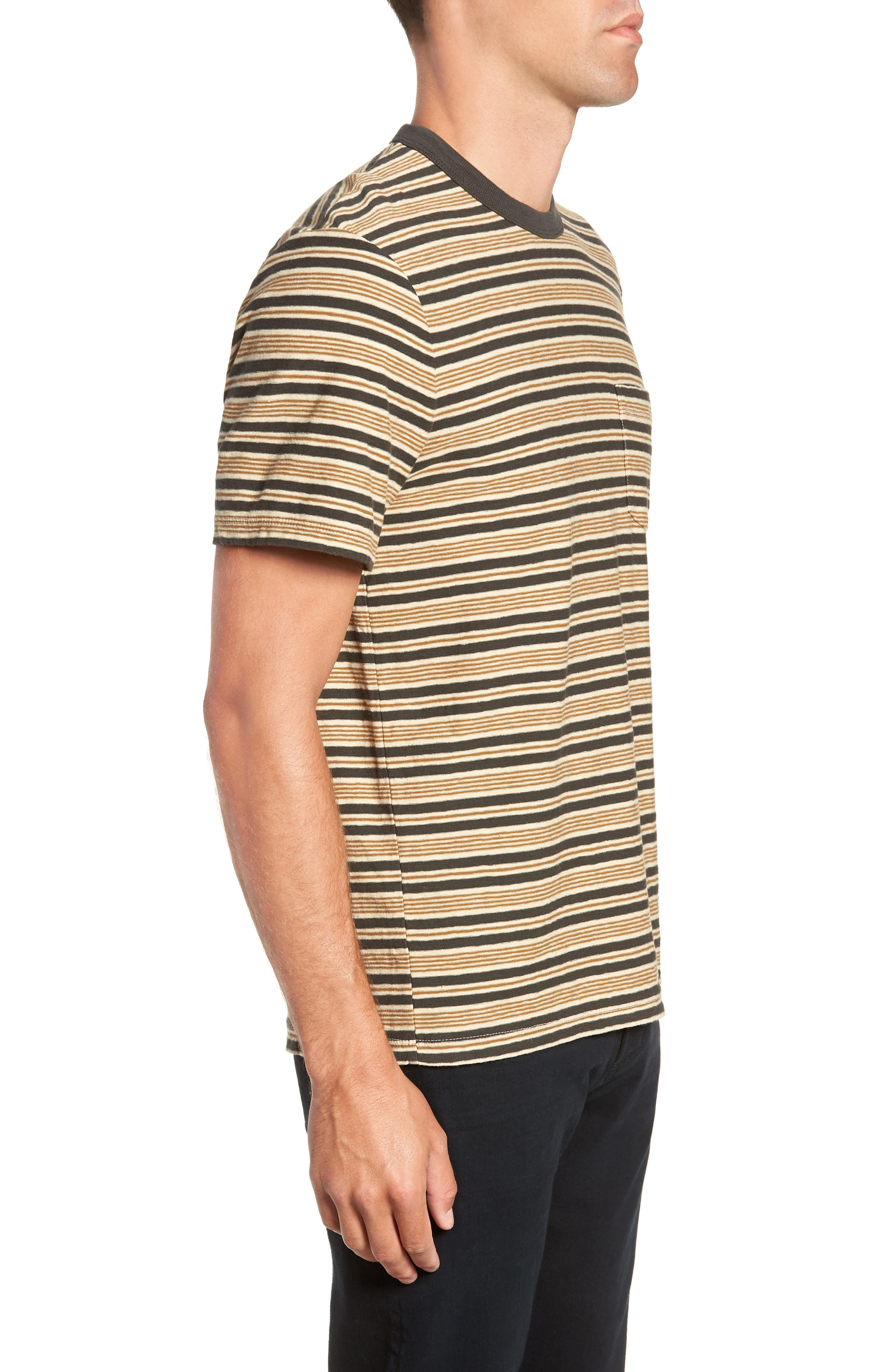 Vintage Stripe Regular Fit Pocket T-Shirt,                             Alternate thumbnail 3, color,                             300
