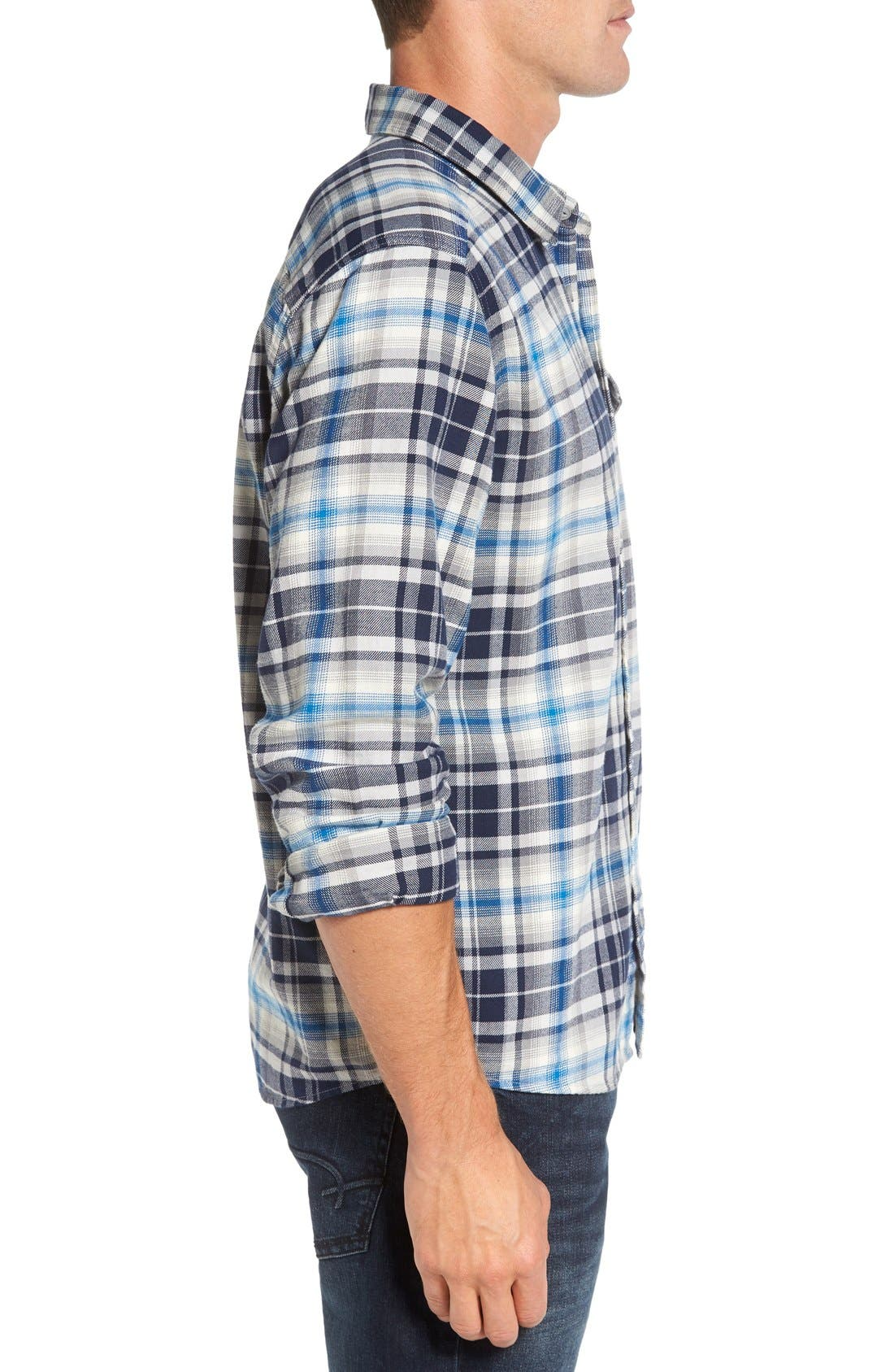 Regular Fit Organic Cotton Flannel Shirt,                             Alternate thumbnail 35, color,