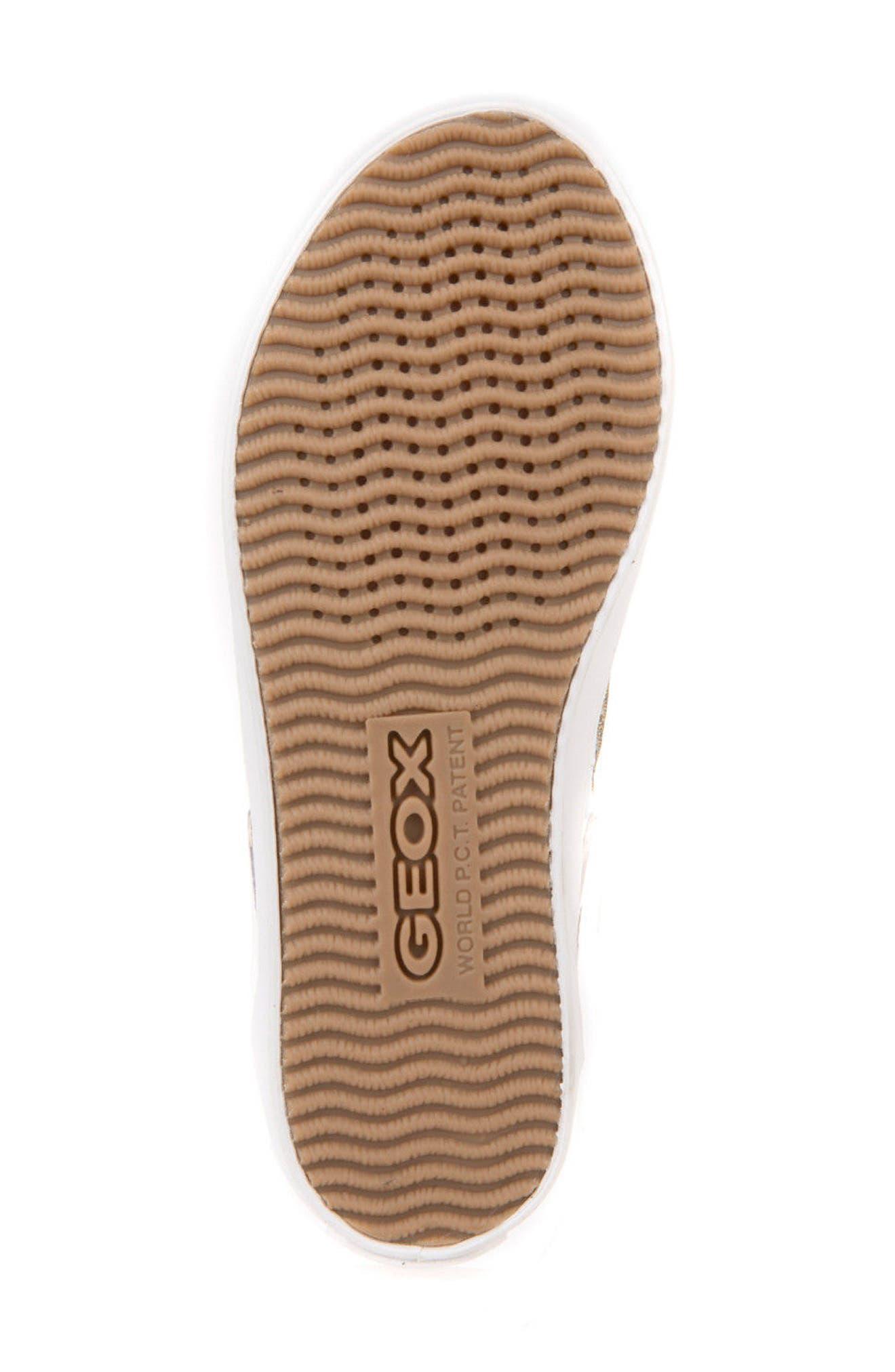 Kilwi Metallic Embellished Sneaker,                             Alternate thumbnail 6, color,                             GOLD
