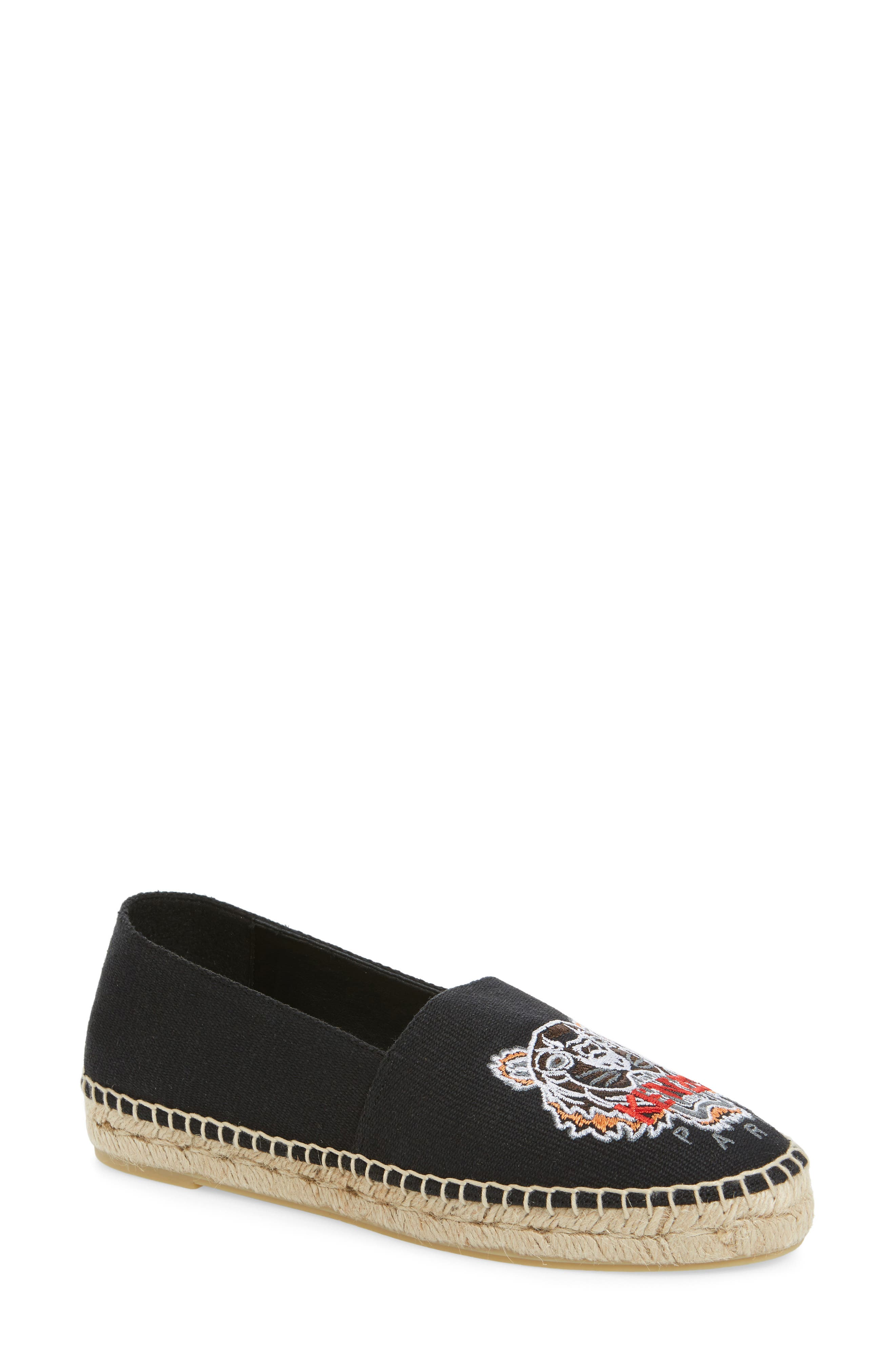 Tiger Logo Embroidered Espadrille,                             Main thumbnail 2, color,