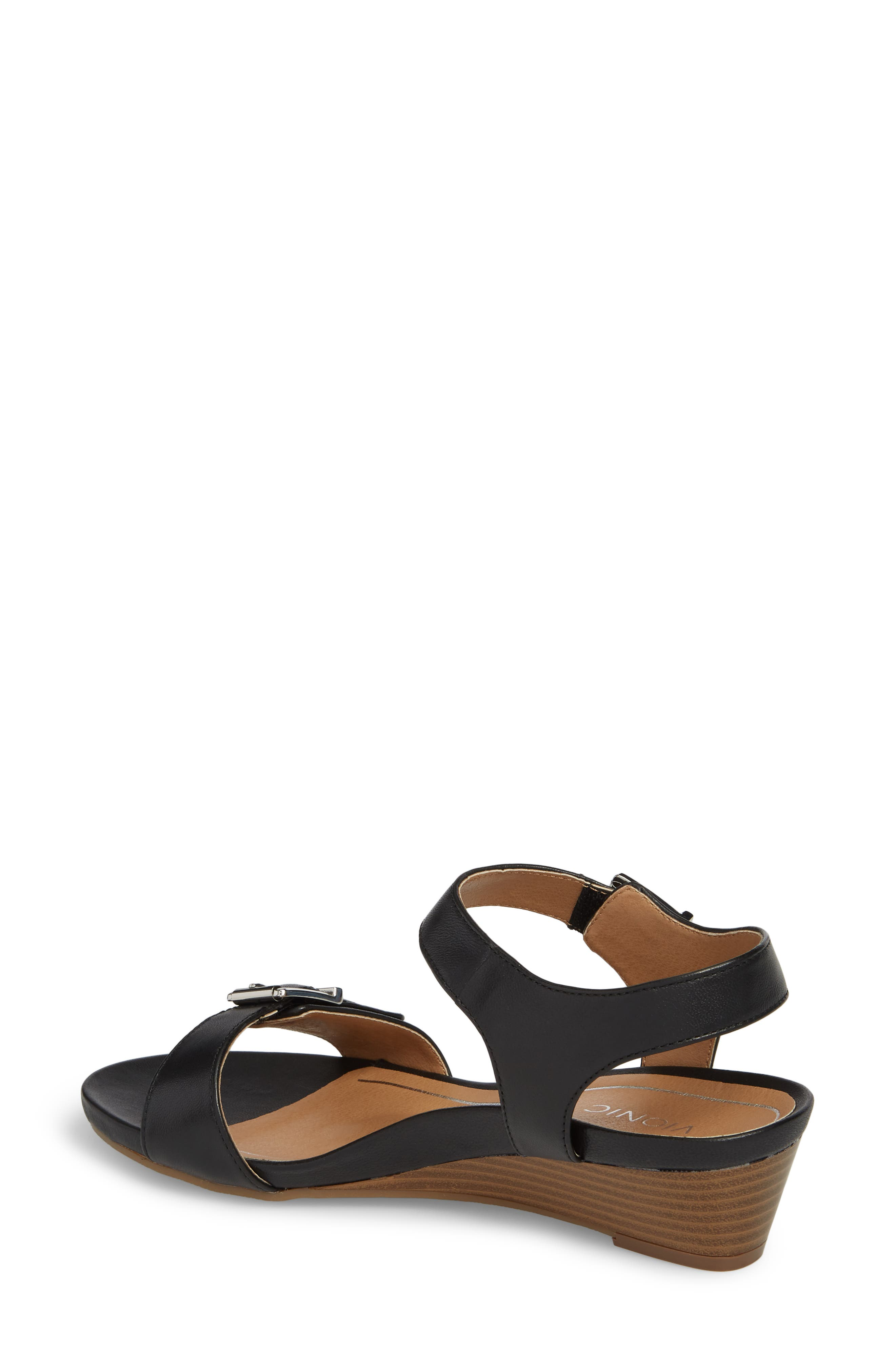 Frances Wedge Sandal,                             Alternate thumbnail 2, color,                             001