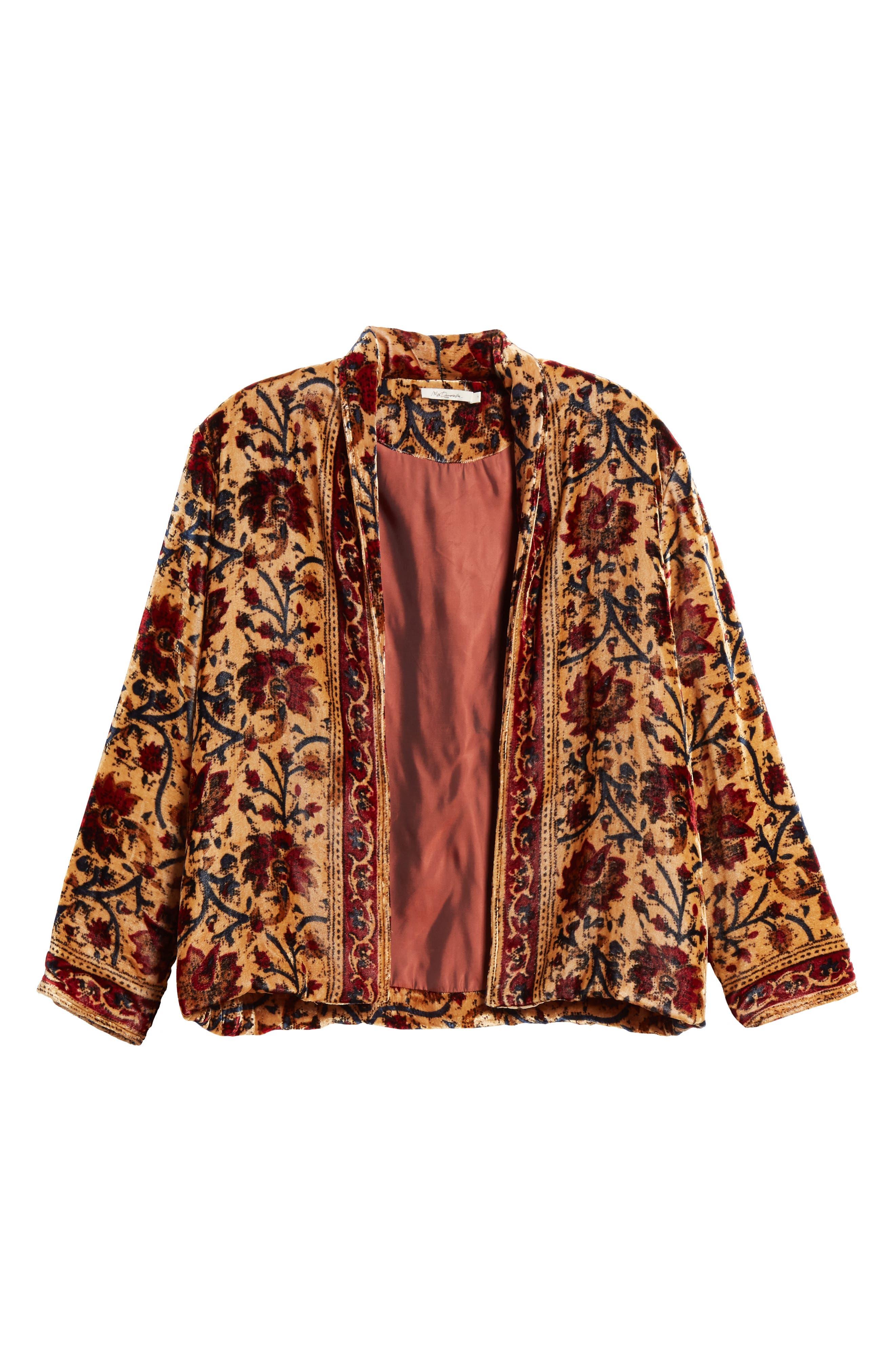 Charles Floral Cotton Velvet Jacket,                             Alternate thumbnail 6, color,                             291