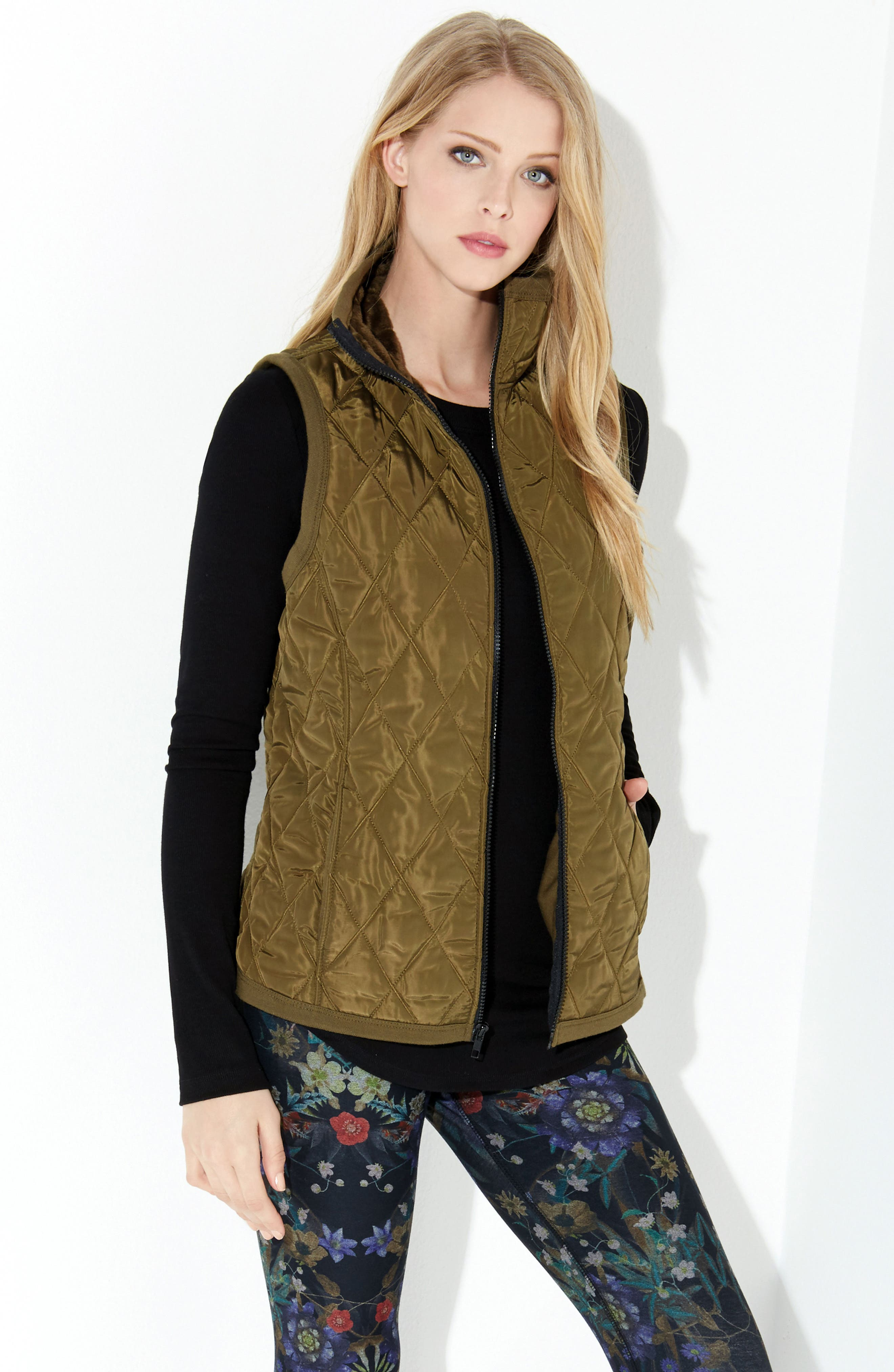 Quilted Vest,                             Alternate thumbnail 4, color,                             330