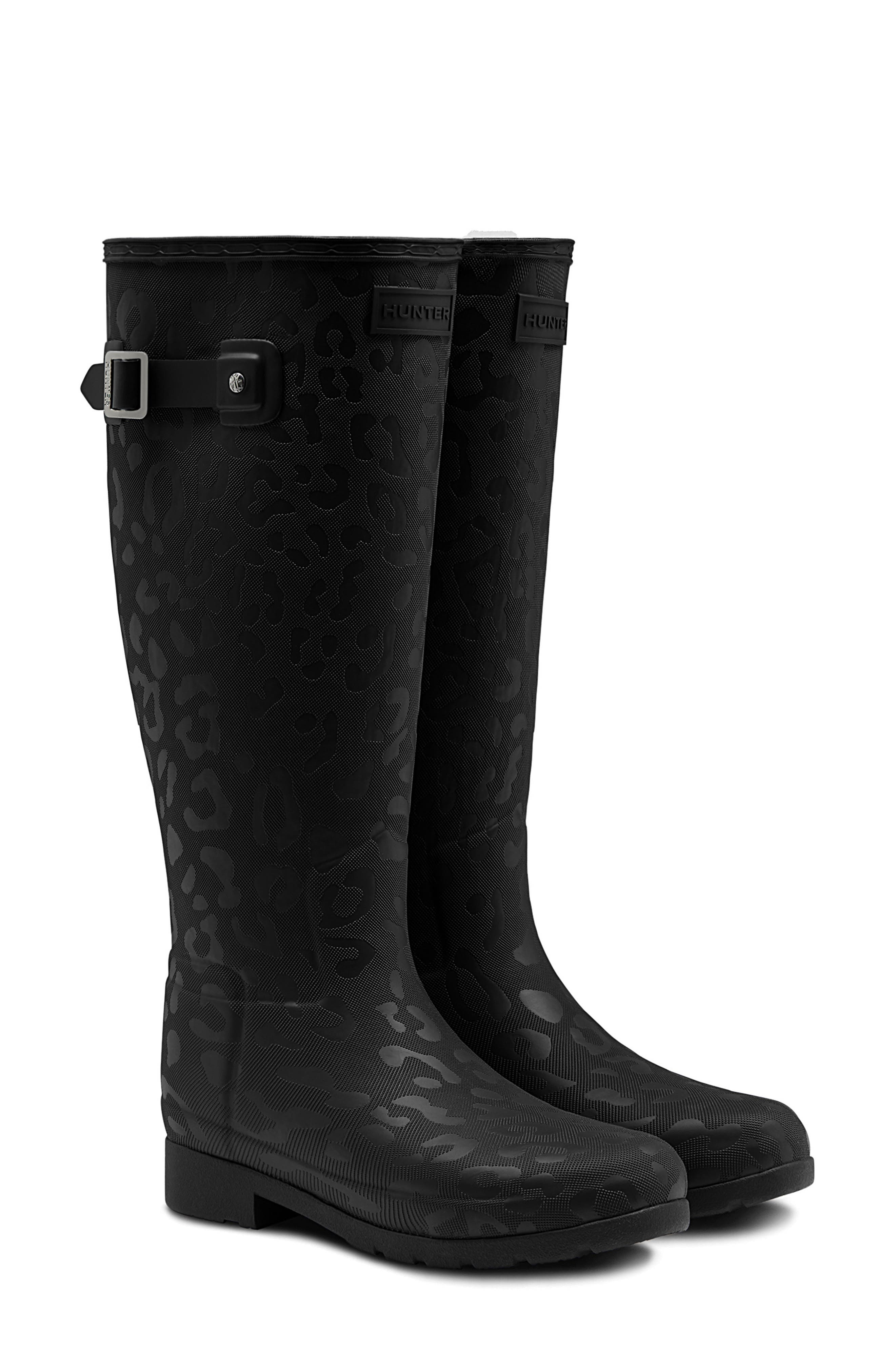 Original Insulated Refined Tall Rain Boot,                             Main thumbnail 1, color,                             BLACK