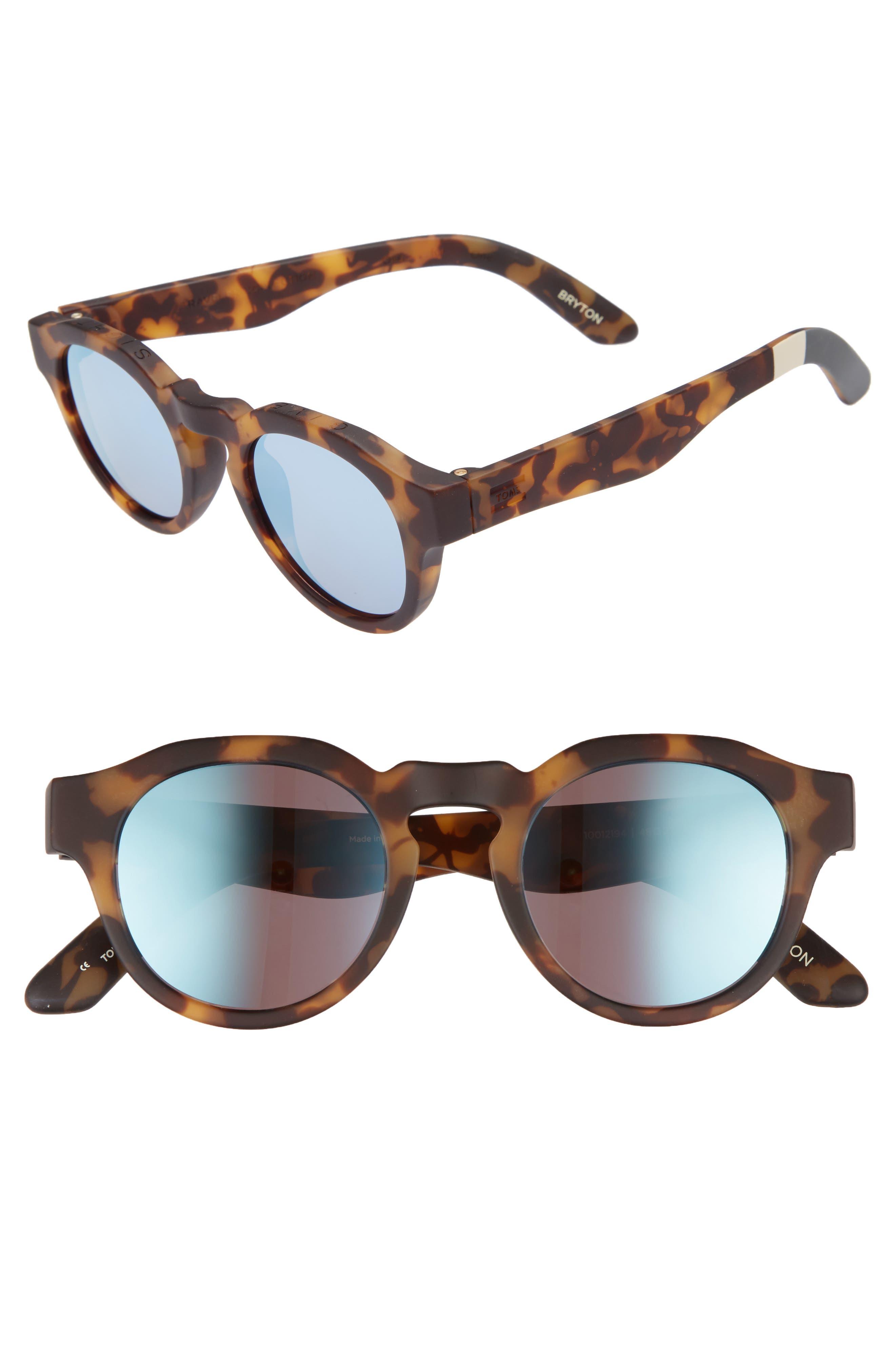 Bryton 48mm Sunglasses,                         Main,                         color, BLONDE TORTOISE