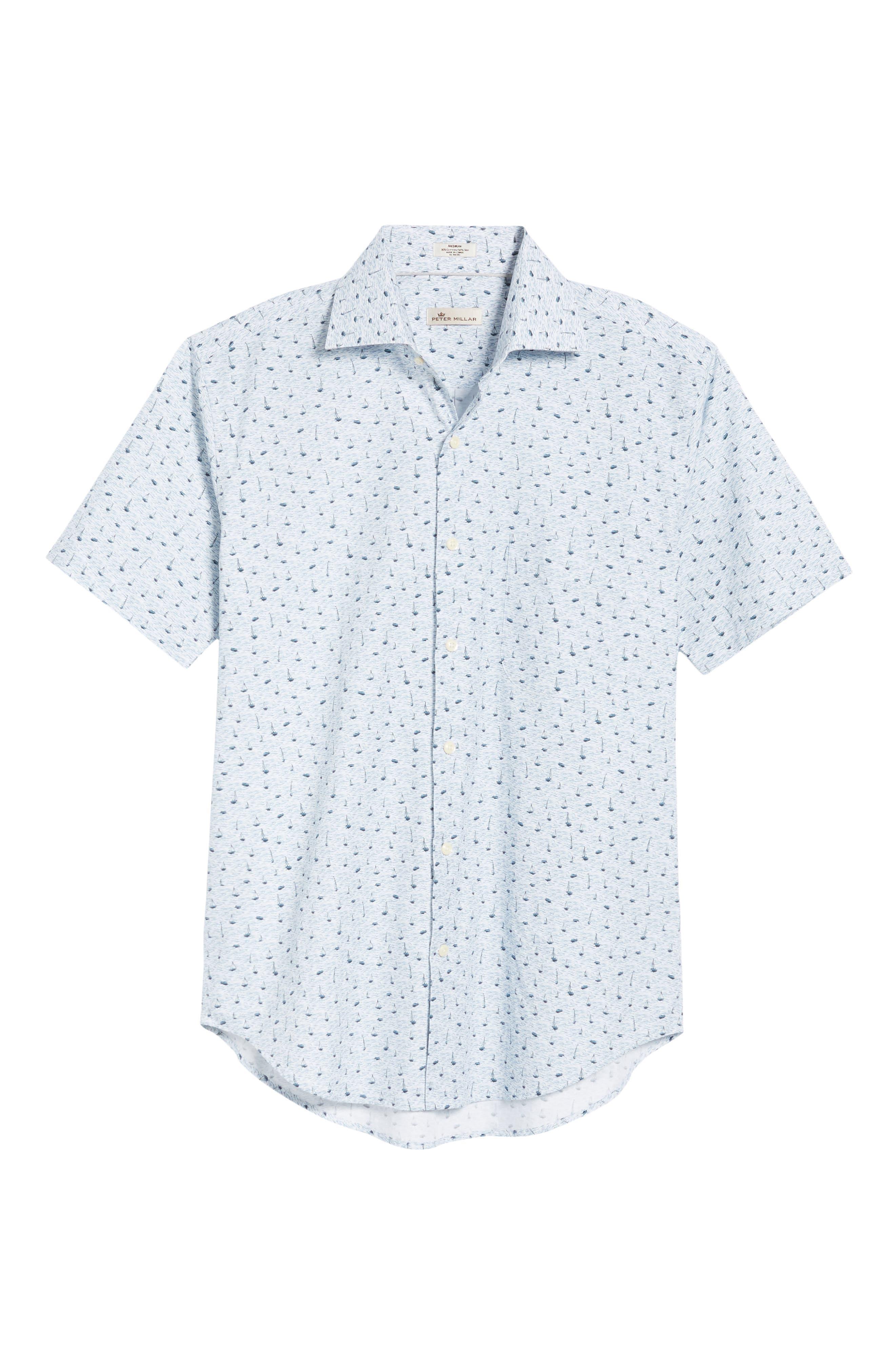 Stormy Tide Regular Fit Sport Shirt,                             Alternate thumbnail 6, color,                             ATLANTIC BLUE