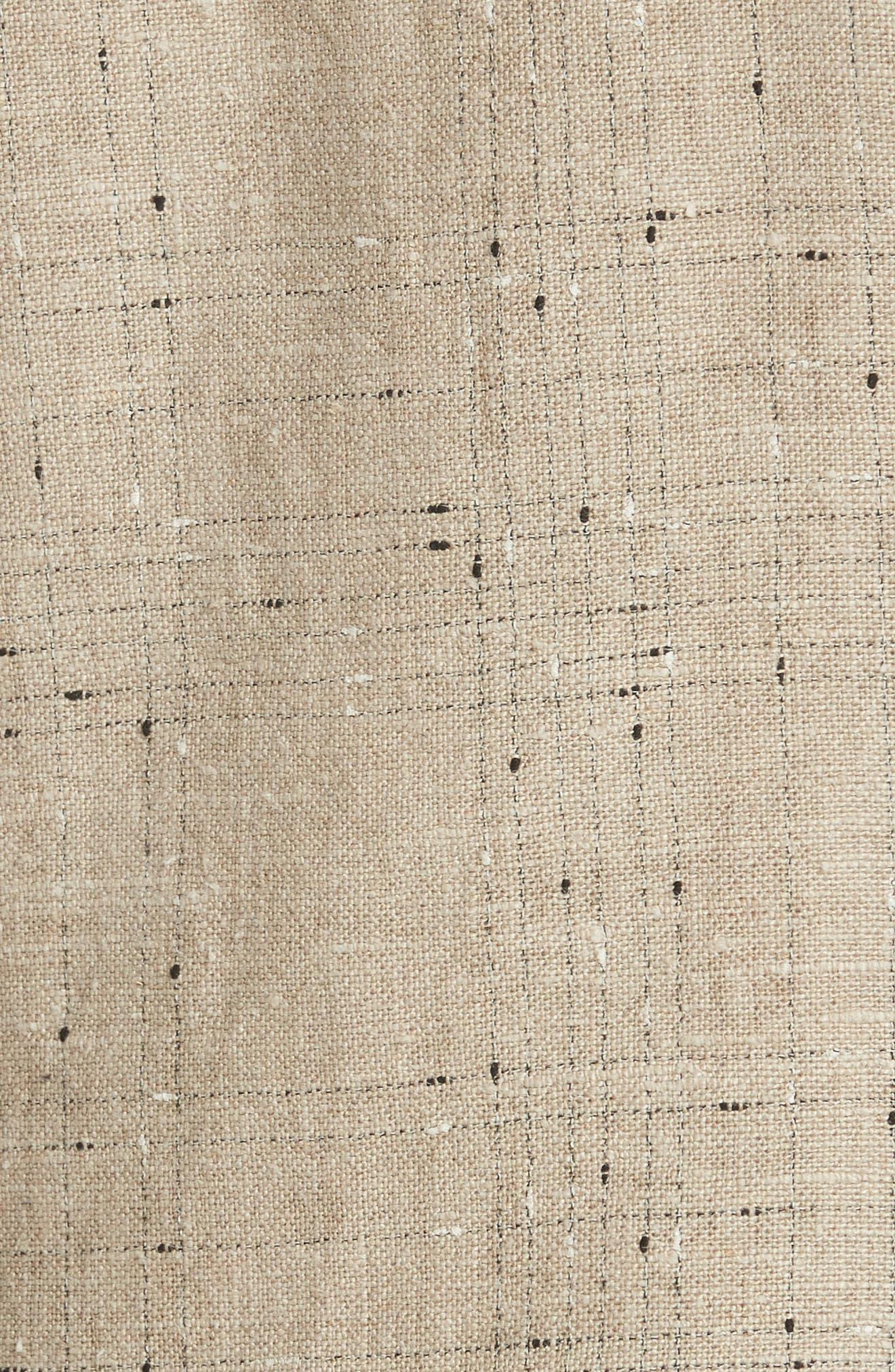 Leather Elbow Patch Linen Blend Blazer,                             Alternate thumbnail 6, color,